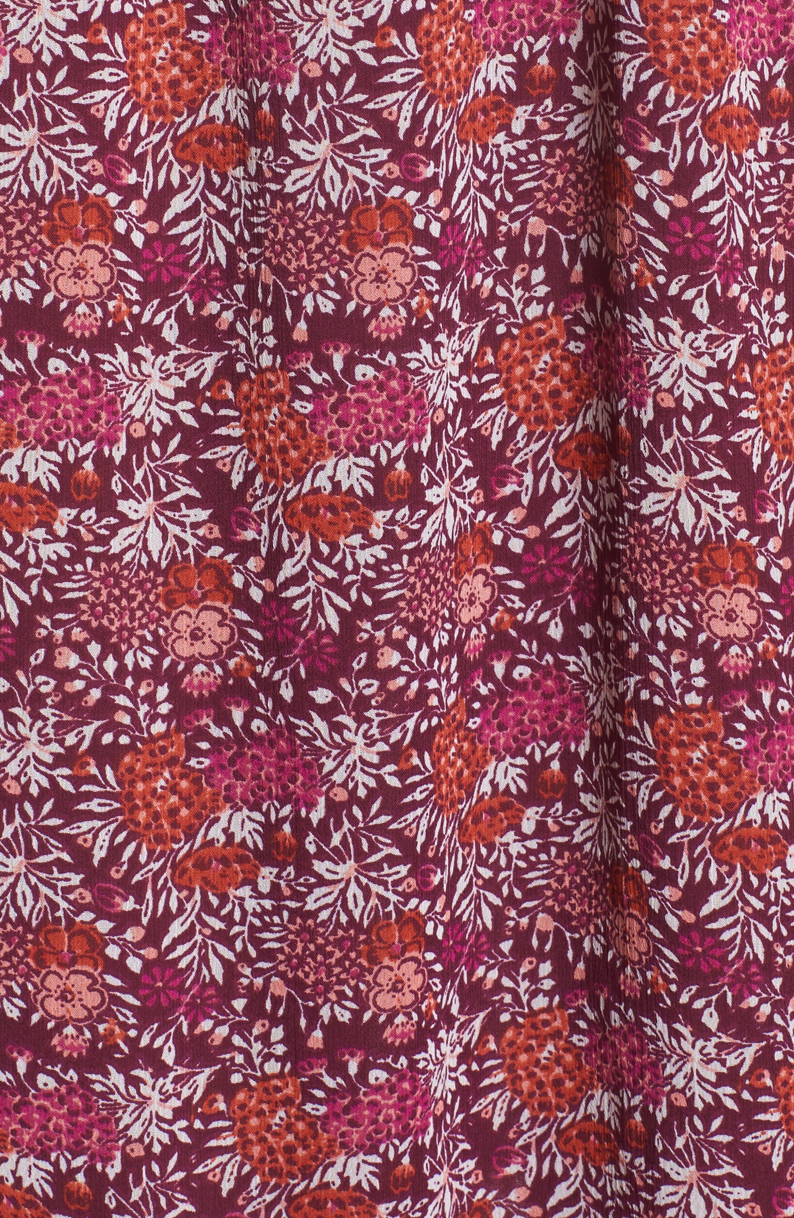 Maribel Off the Shoulder Midi Dress,                             Alternate thumbnail 6, color,                             Multi Fe4