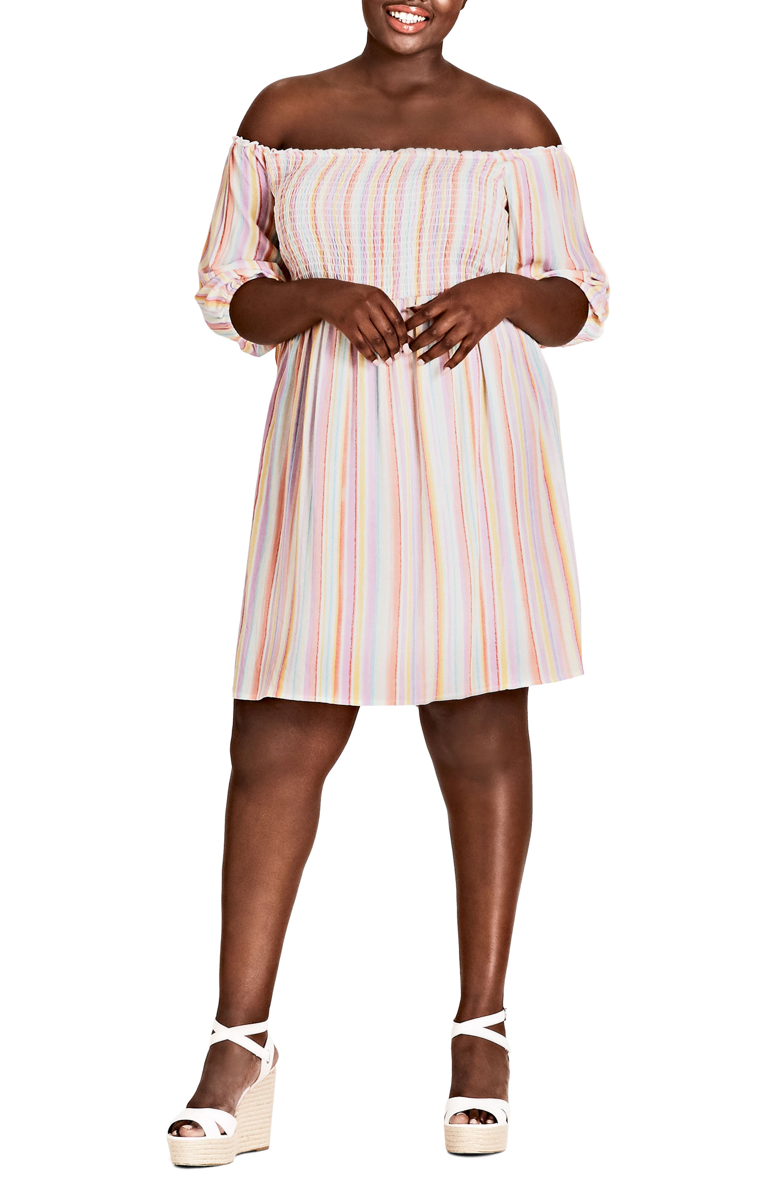 Island Stripe Dress,                             Main thumbnail 1, color,                             Island Stripe