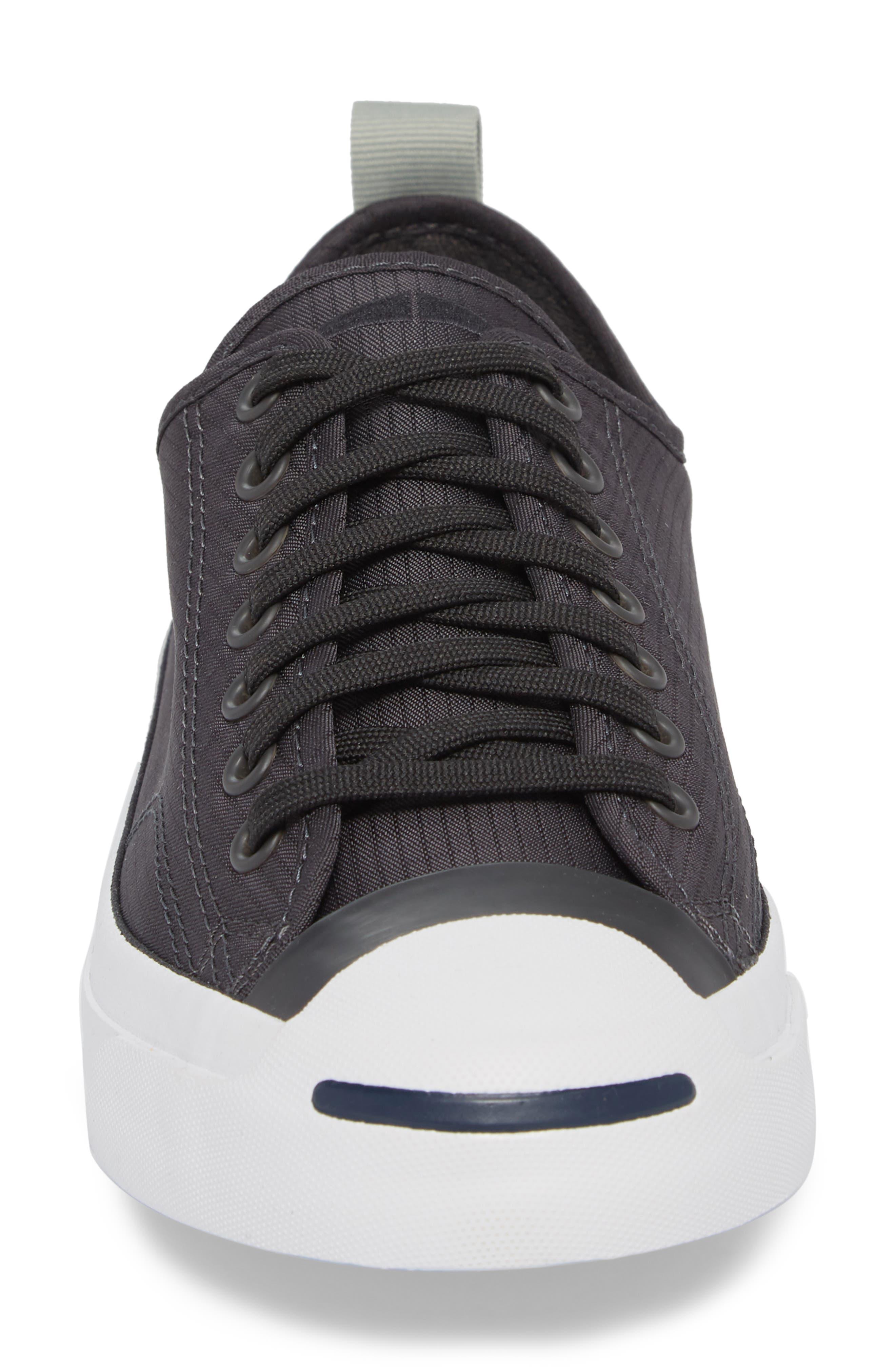 Jack Purcell Ripstop Sneaker,                             Alternate thumbnail 4, color,                             Black