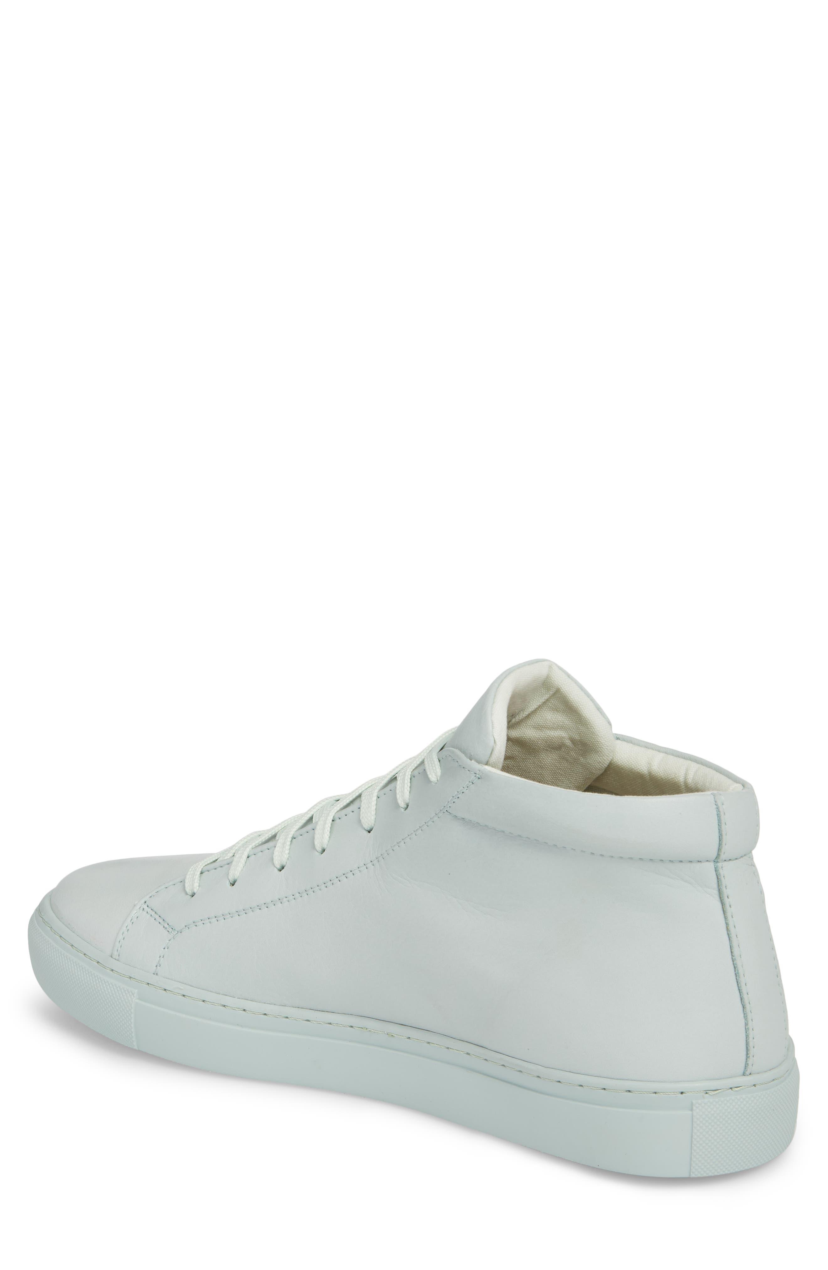 Lexington Mid Top Sneaker,                             Alternate thumbnail 2, color,                             Mint Green Leather