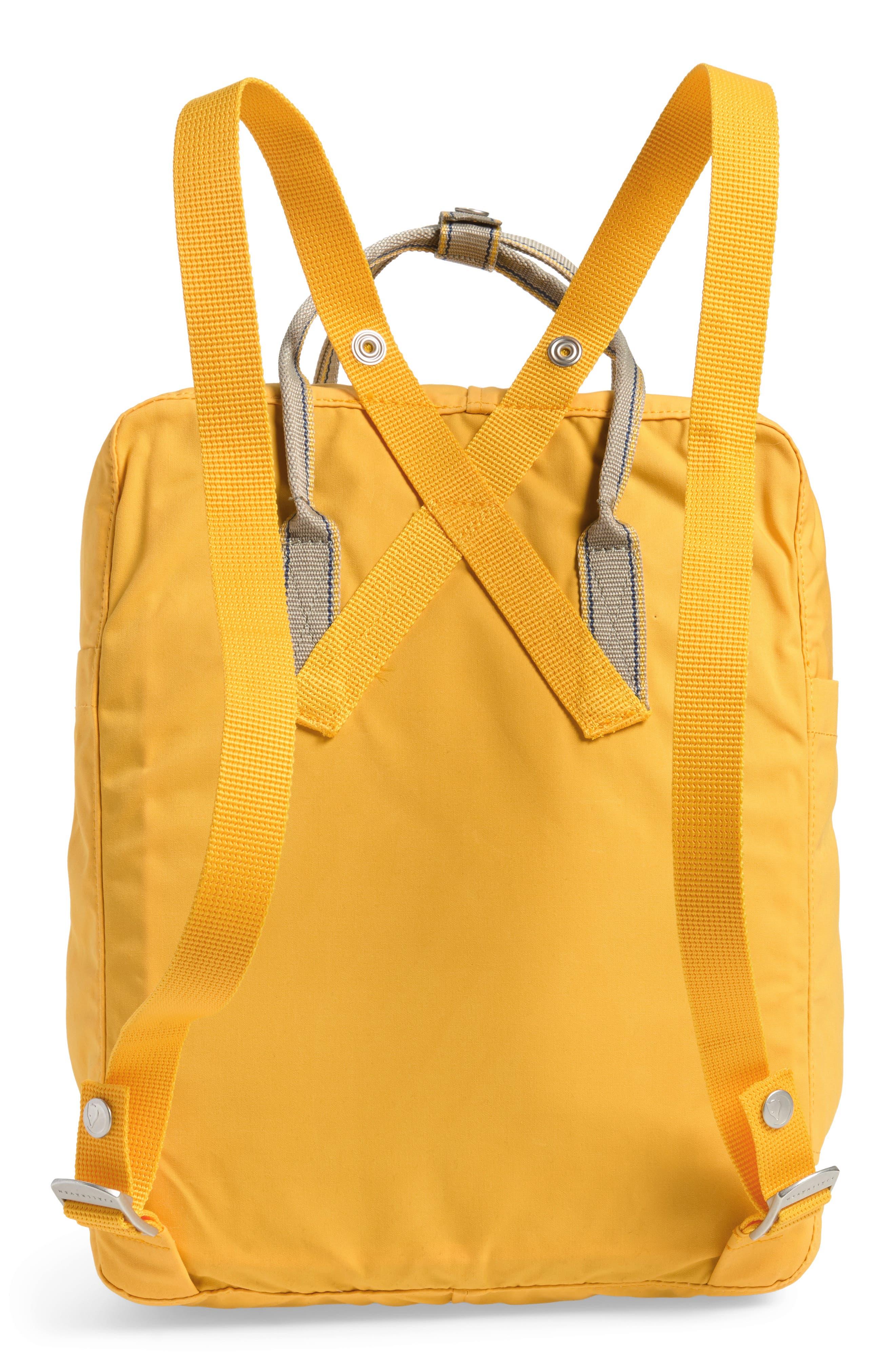Kånken Greenland Backpack,                             Alternate thumbnail 3, color,                             Dandelion
