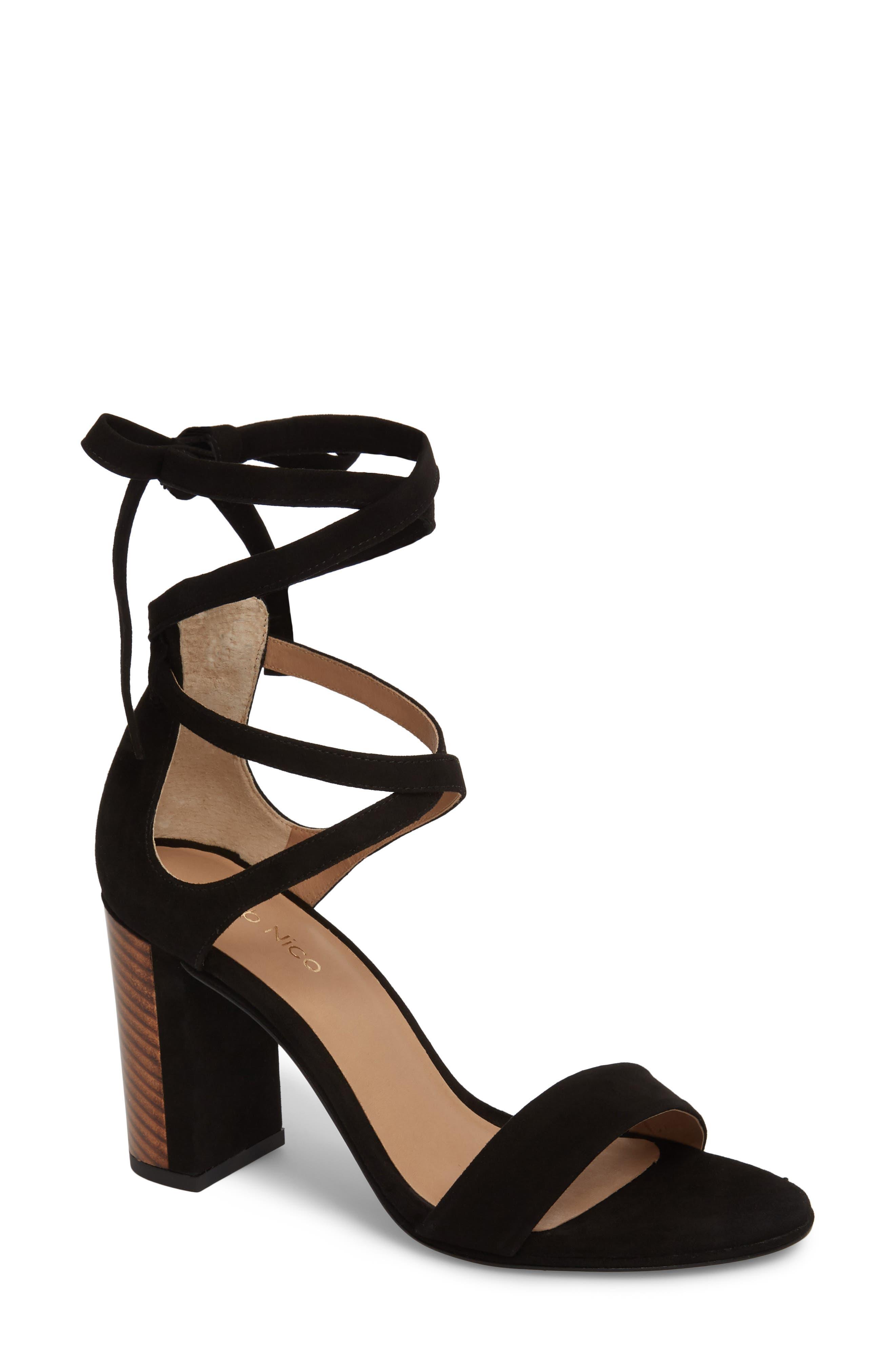 Tadeo Sandal,                         Main,                         color, Black Suede