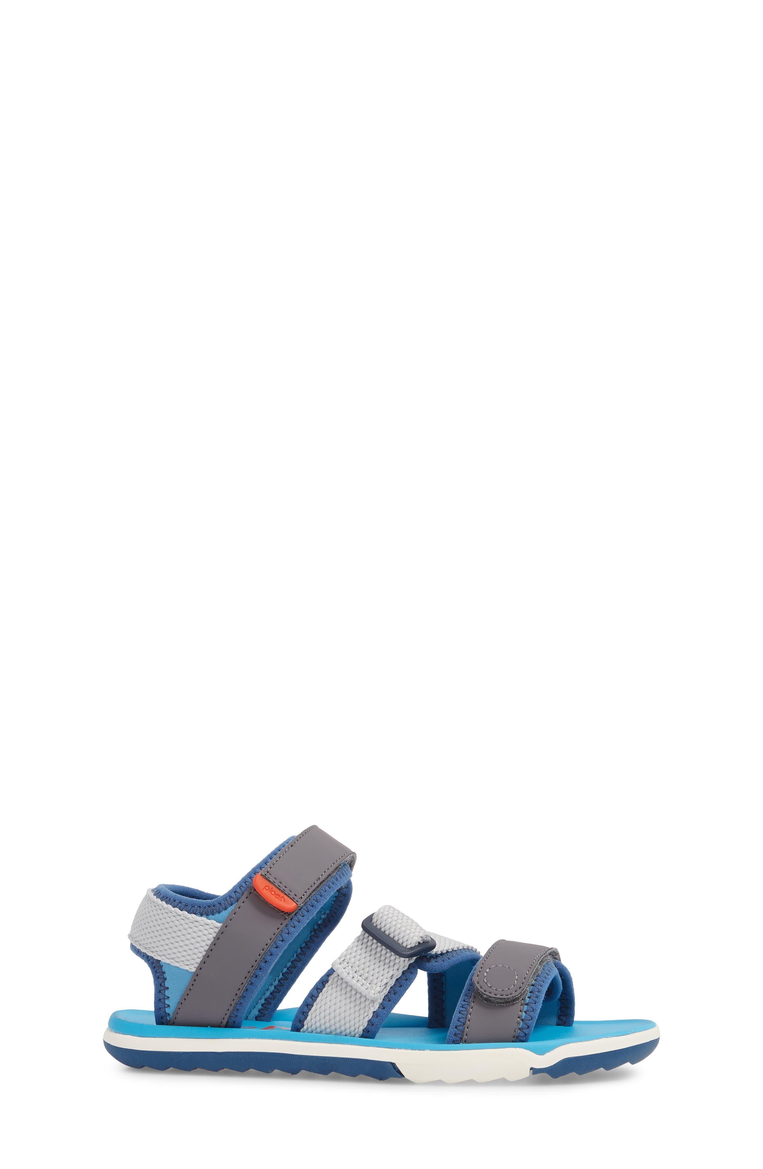 Wes Customizable Sandal,                             Alternate thumbnail 4, color,                             Aloha Blue