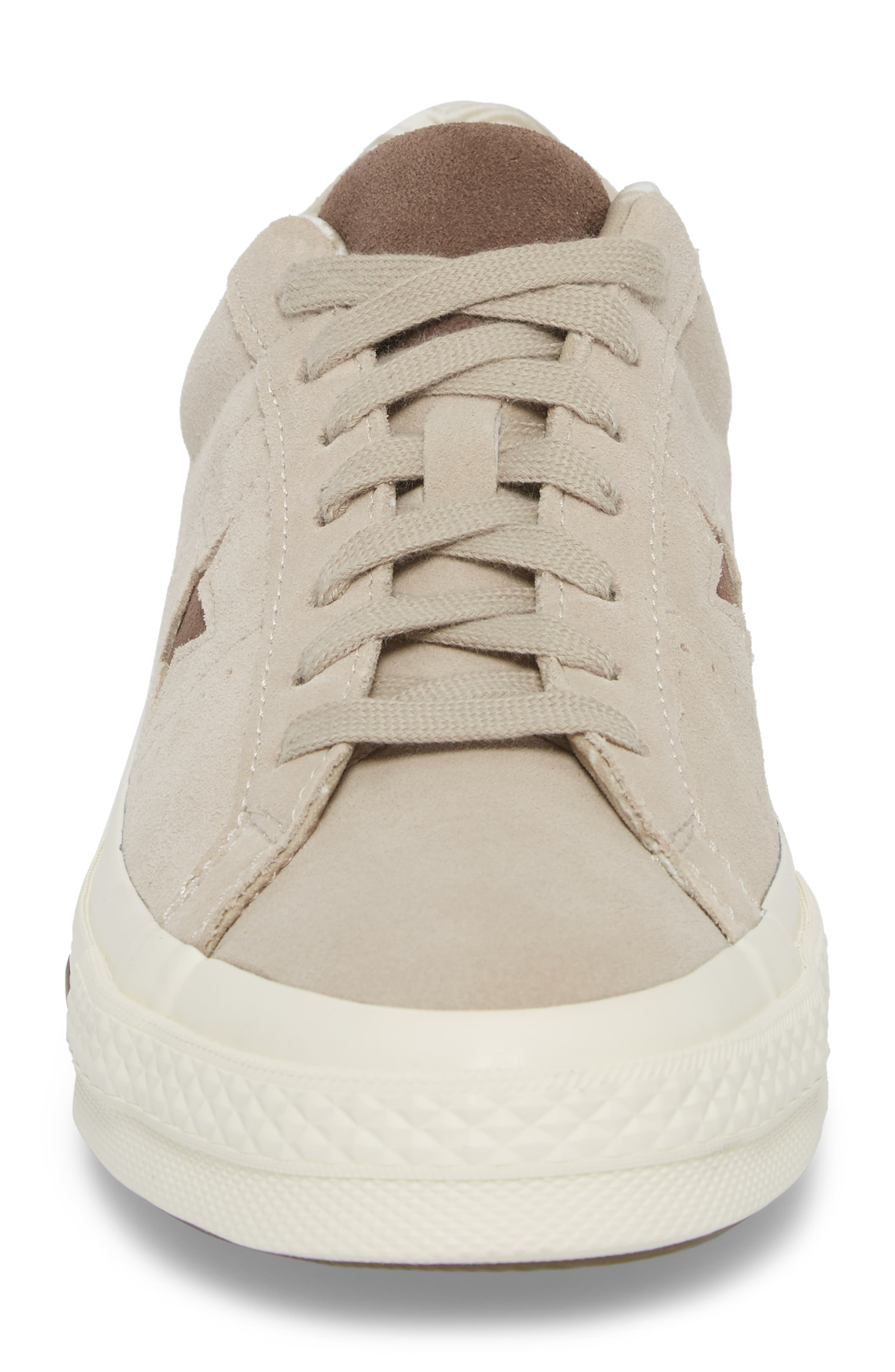 One-Star Tropical Sneaker,                             Alternate thumbnail 4, color,                             Khaki Suede