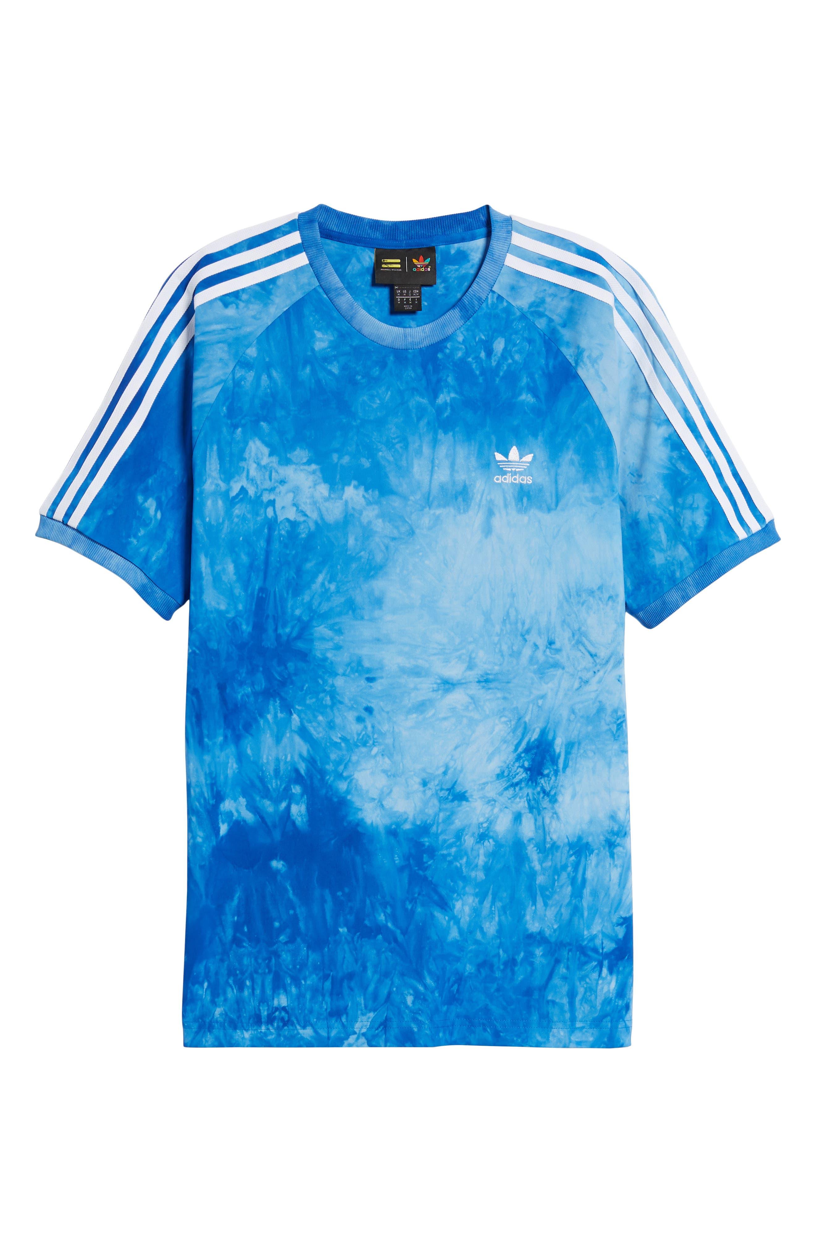 adidas Hu Holi Jersey T-Shirt,                             Alternate thumbnail 6, color,                             Blue