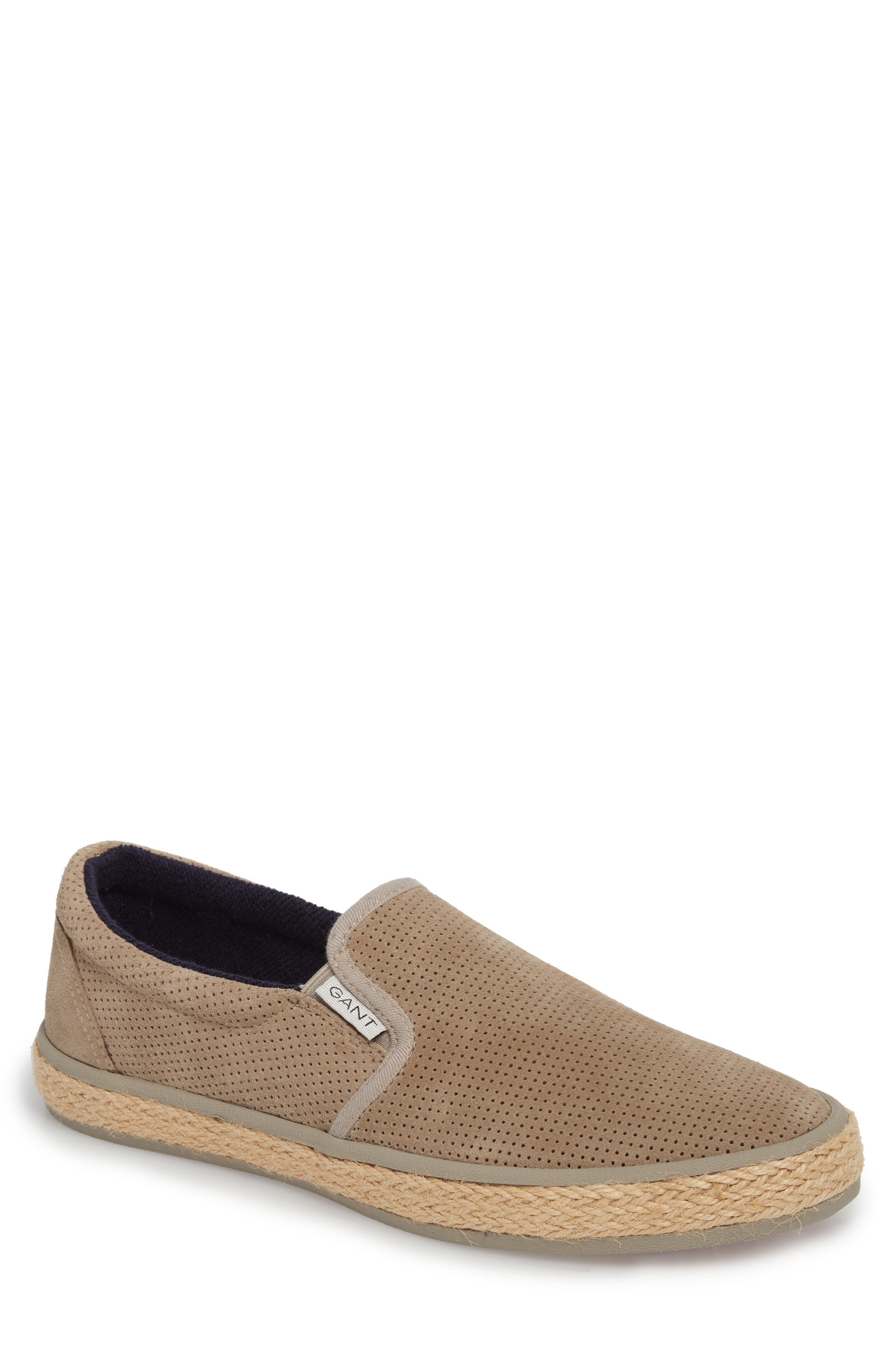 Master Perforated Slip-On Sneaker,                             Main thumbnail 1, color,                             Cashew Brown