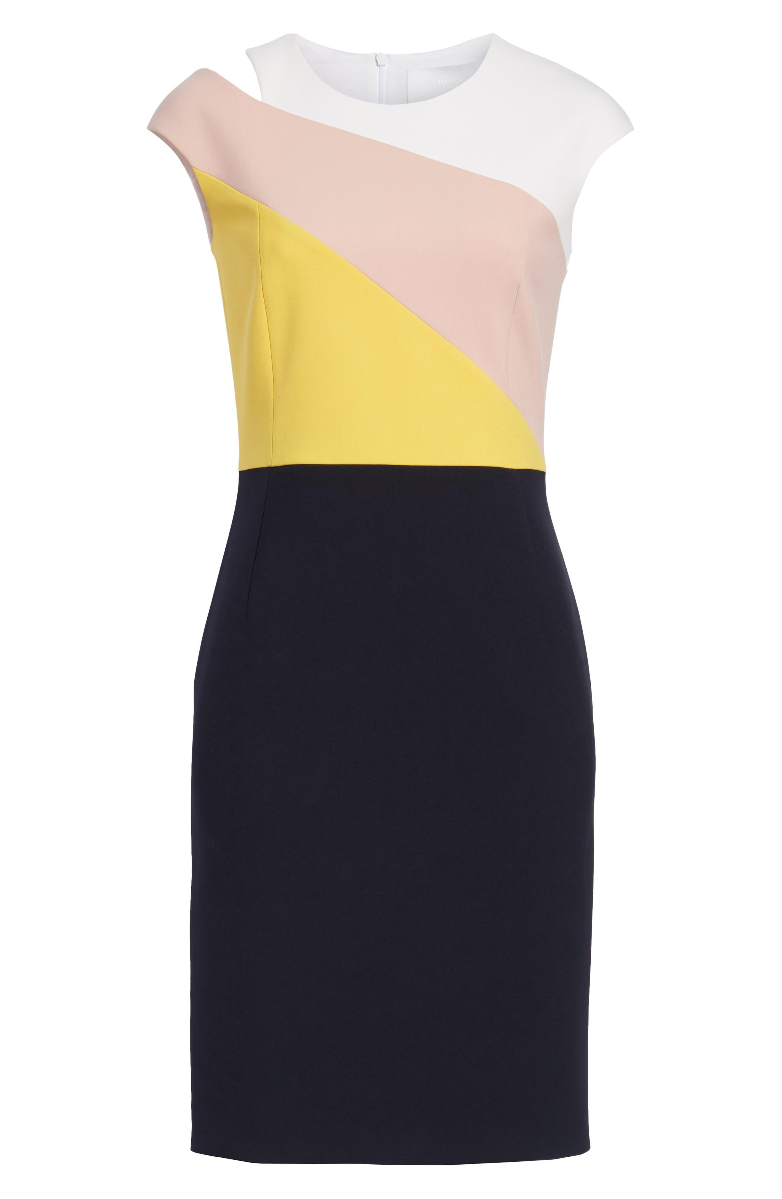 Danouk Ponte Dress,                             Alternate thumbnail 7, color,                             Navy