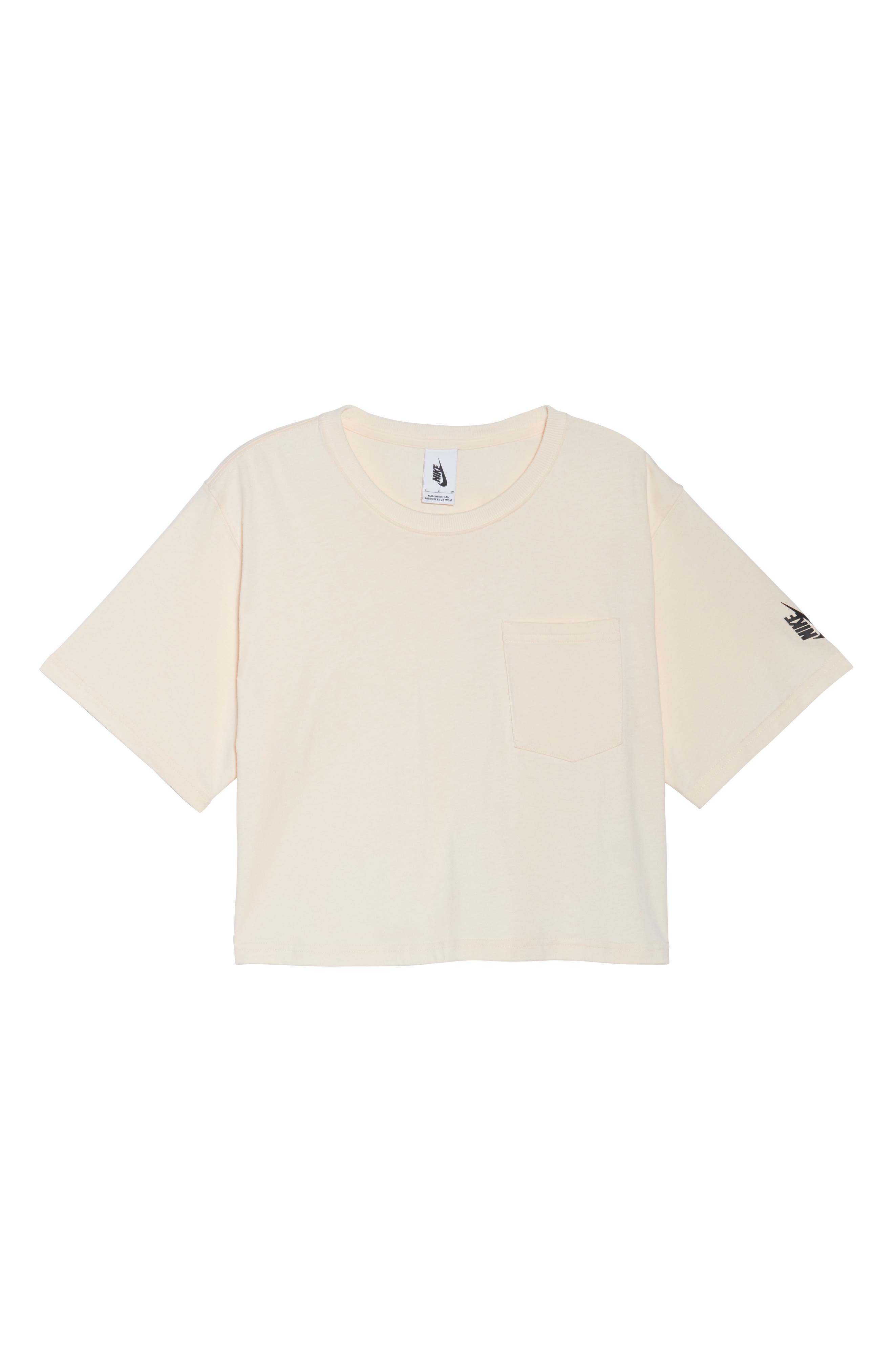 NikeLab Collection Crop Tee,                             Alternate thumbnail 7, color,                             Guava Ice/ Black