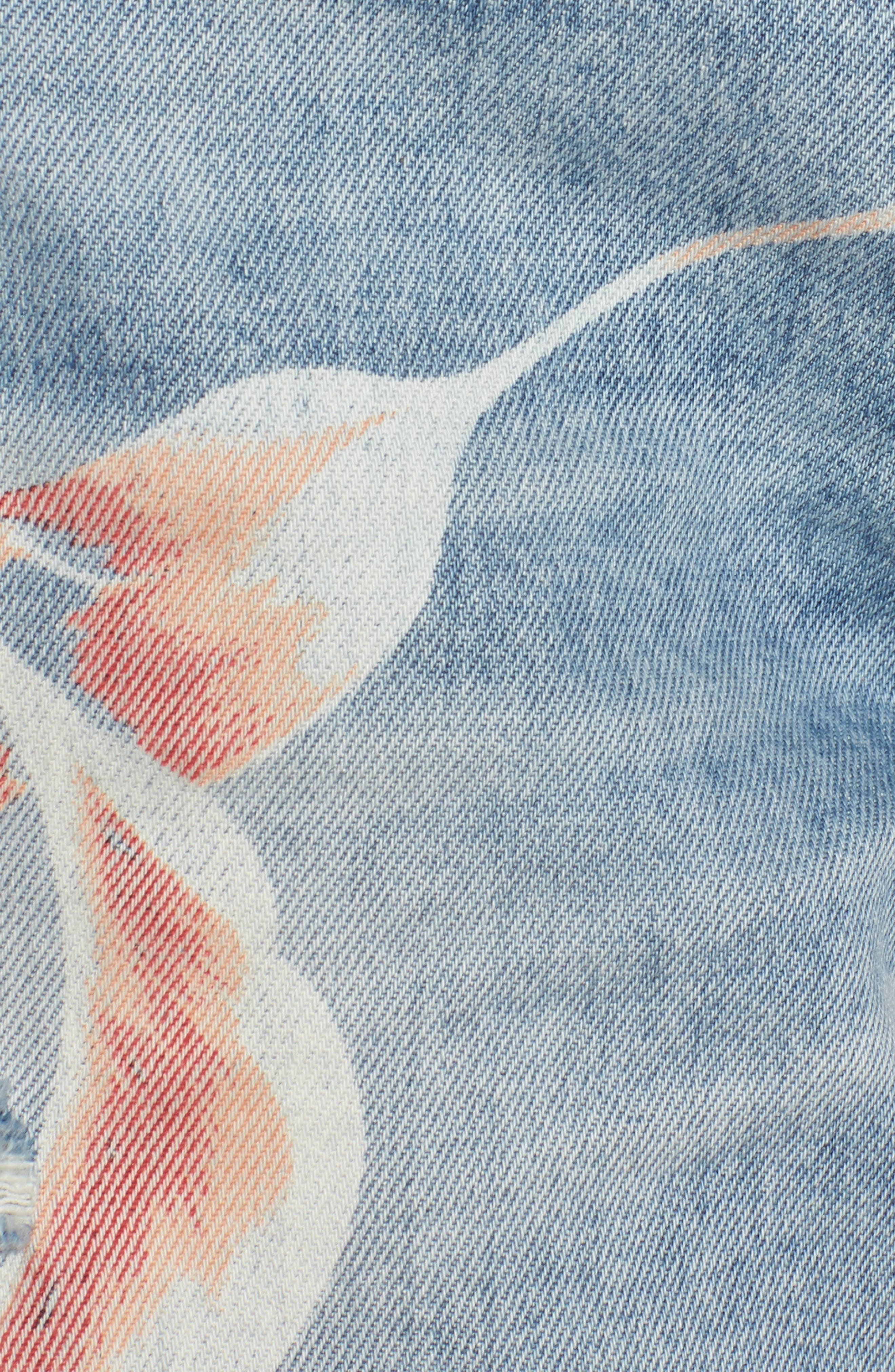 Valeri Painted Denim Shorts,                             Alternate thumbnail 6, color,                             In Bloom