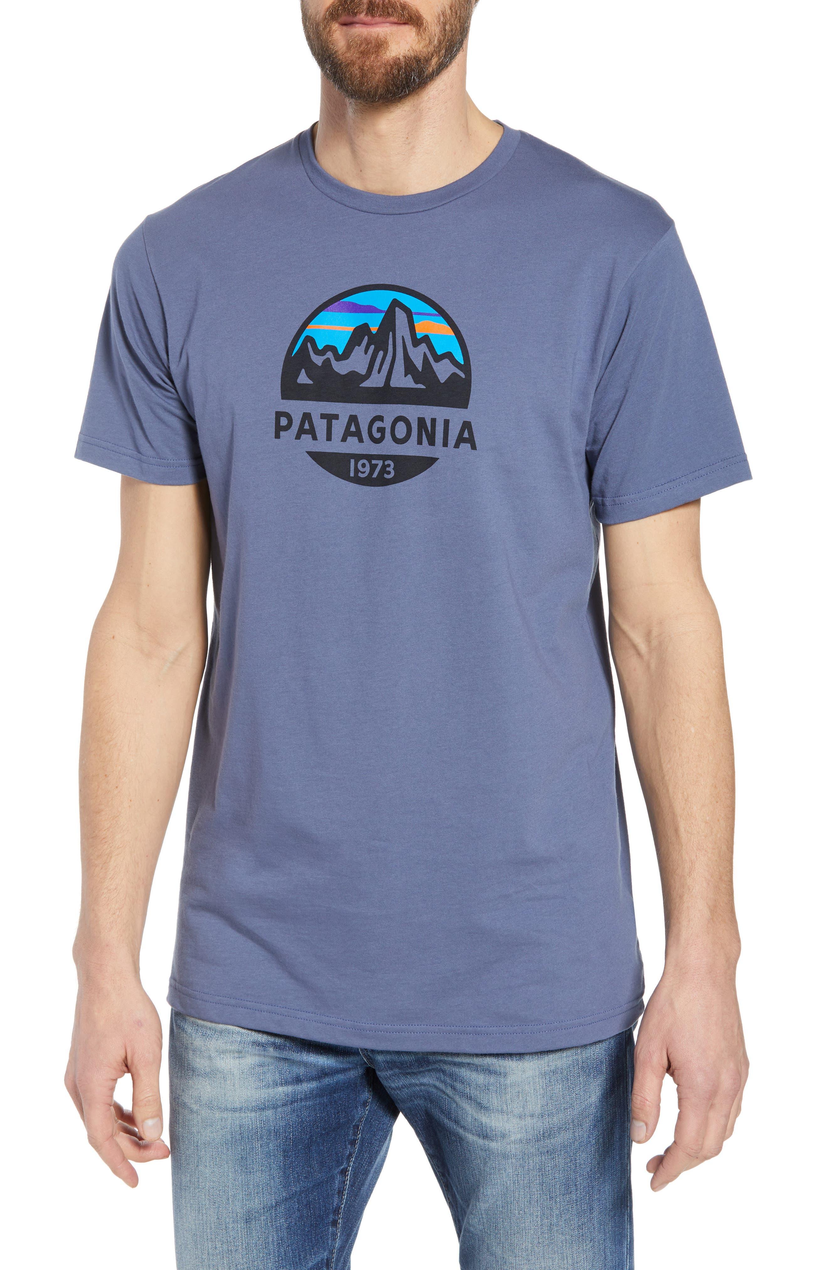 Fitz Roy Scope Crewneck T-Shirt,                         Main,                         color, Dolomite Blue