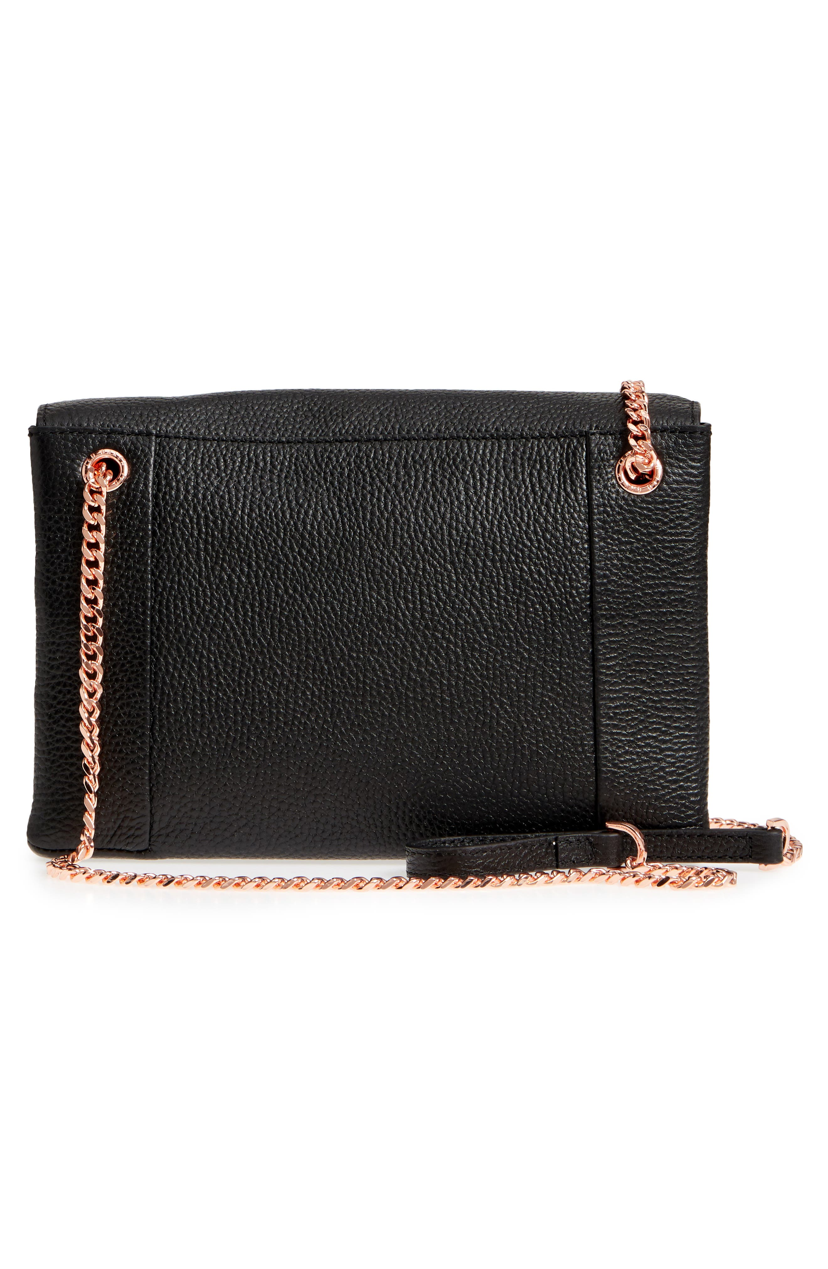 Zzlee Bee Embellished Crossbody Bag,                             Alternate thumbnail 3, color,                             Black