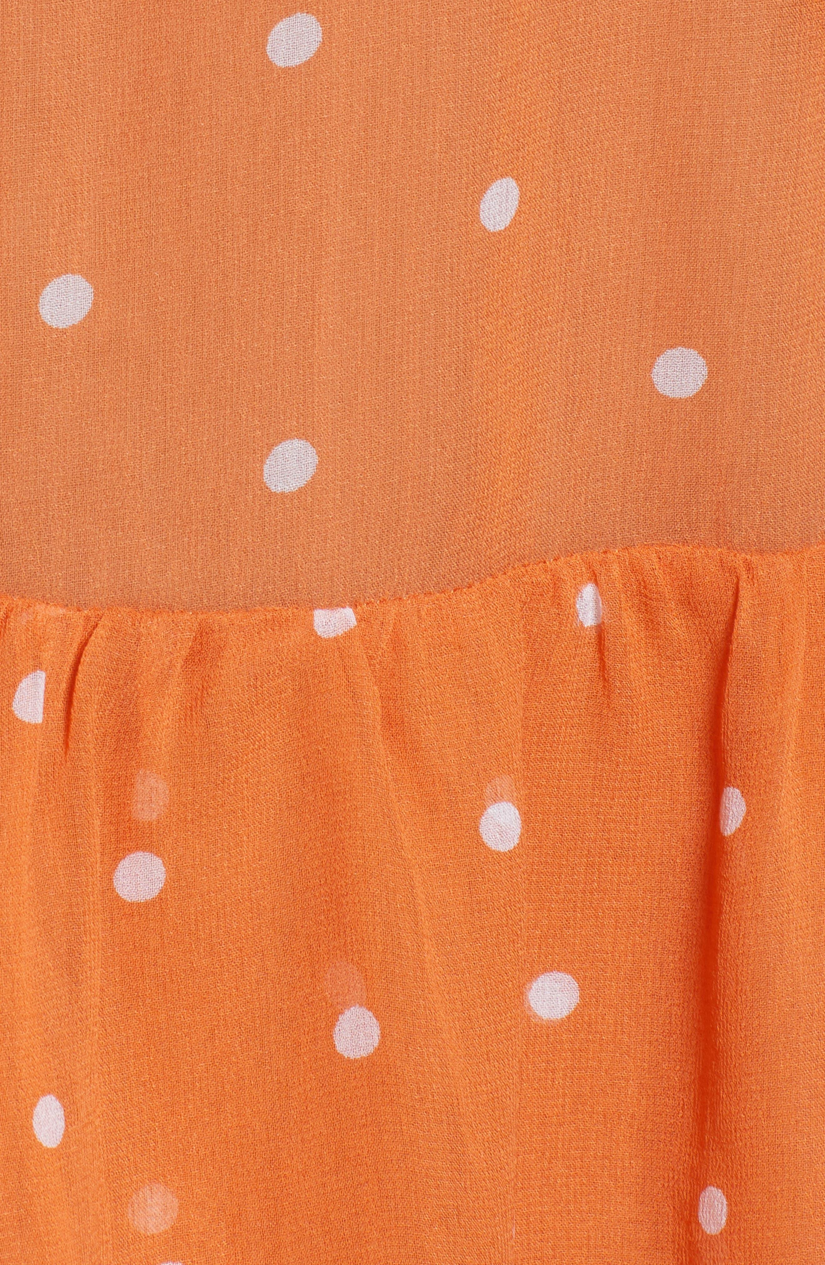 Analisa Polka Dot Minidress,                             Alternate thumbnail 6, color,                             Copper Dot