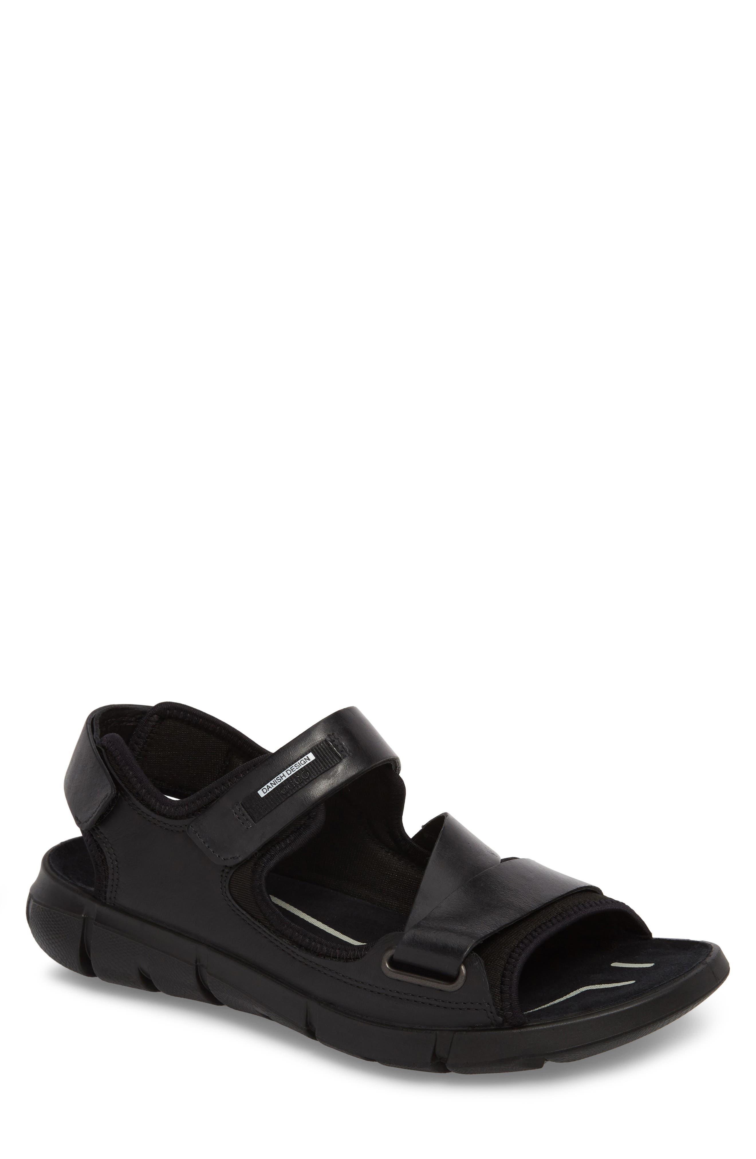 Intrinsic 2 Sandal,                         Main,                         color, Black Leather
