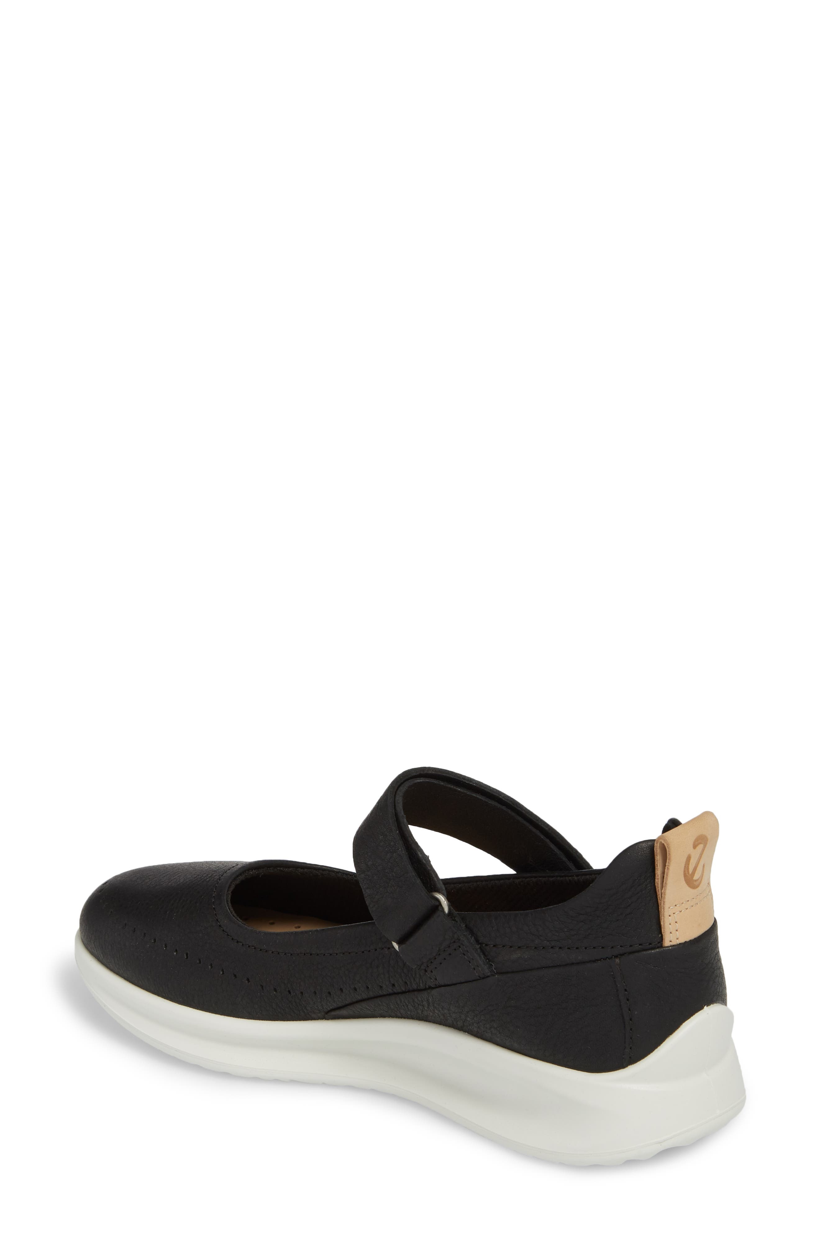 Aquet Mary Jane Wedge Sneaker,                             Alternate thumbnail 2, color,                             Black Leather