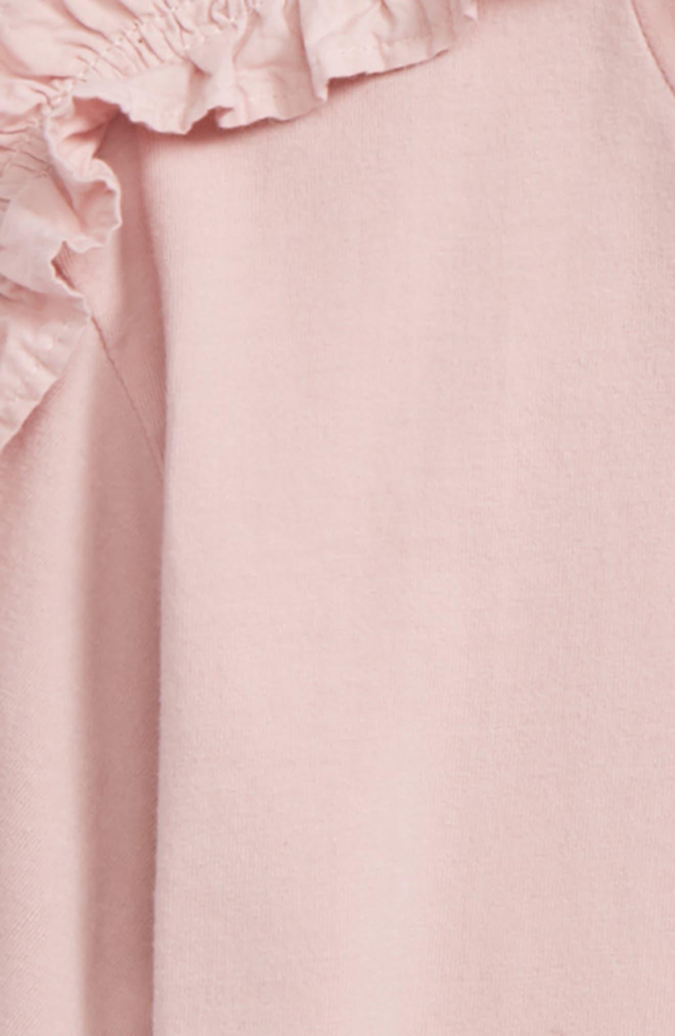 Ruffle Sleeve Tee,                             Alternate thumbnail 2, color,                             Pink Apricot