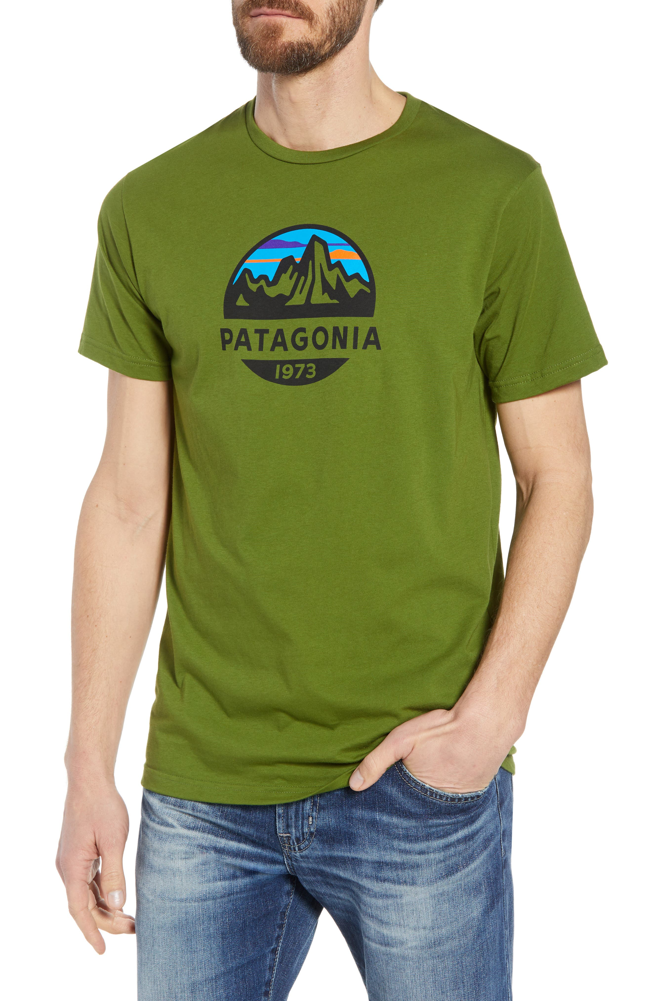 Fitz Roy Scope Crewneck T-Shirt,                         Main,                         color, Sprouted Green