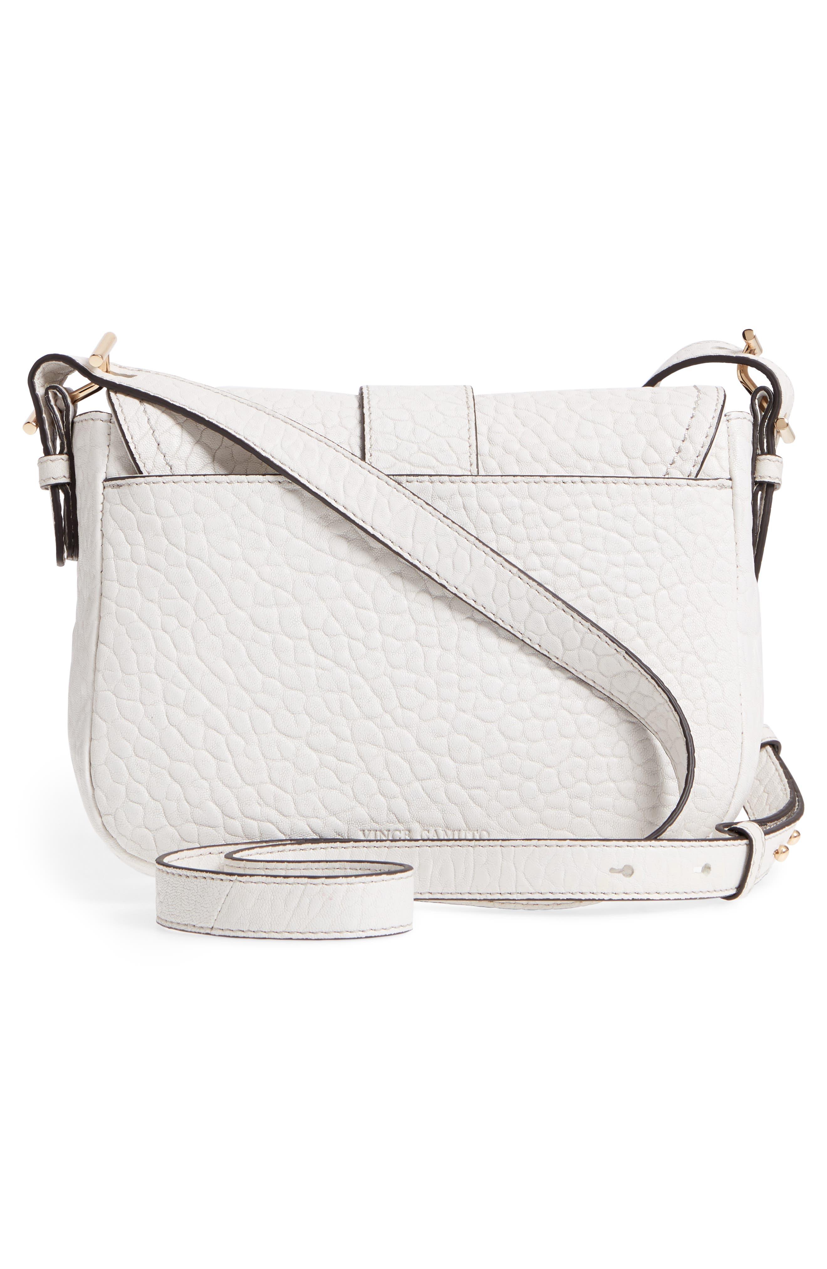 Fava Leather Crossbody Bag,                             Alternate thumbnail 3, color,                             Vaporous Grey