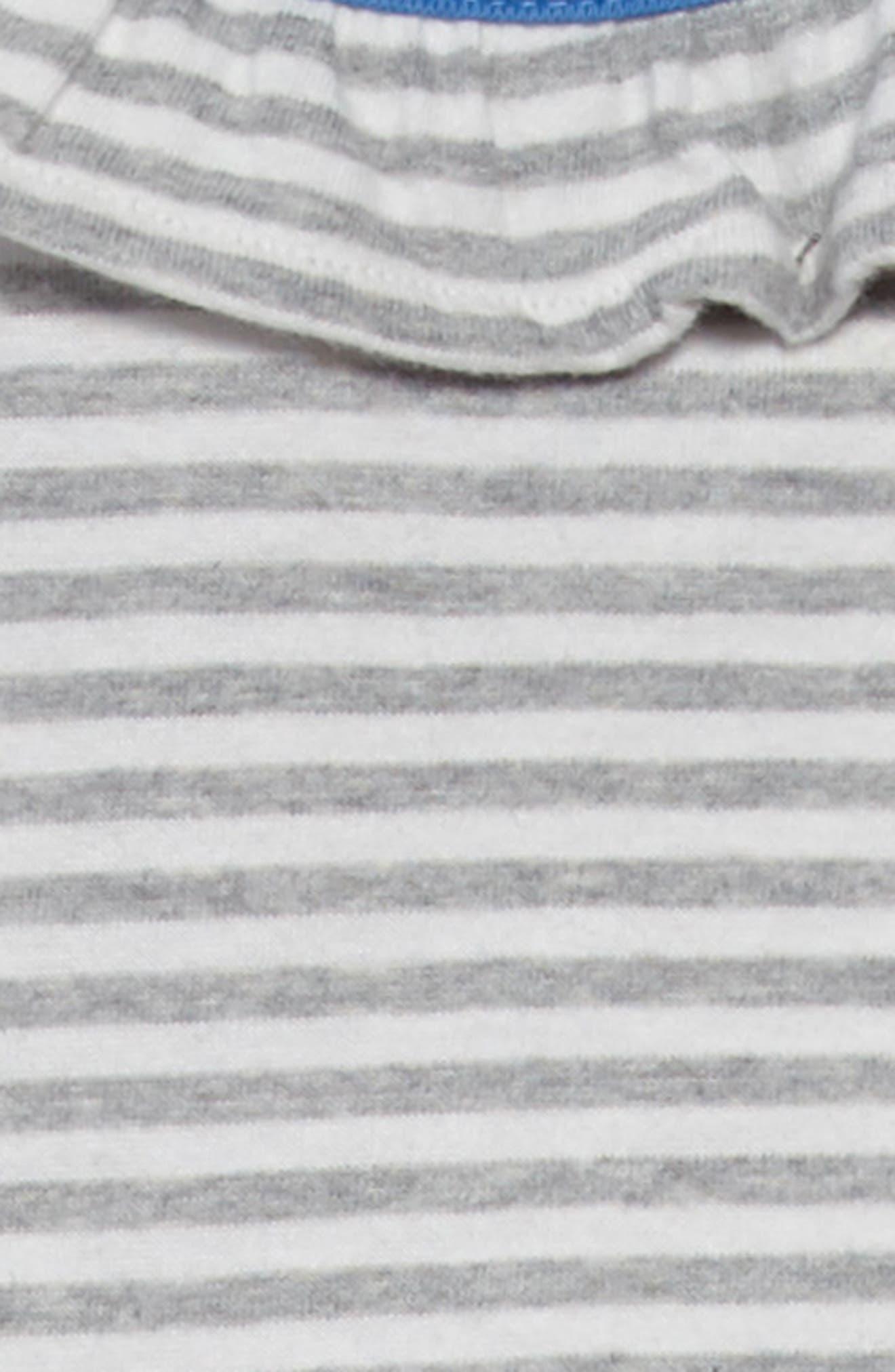 Stripe Jersey Dress,                             Alternate thumbnail 3, color,                             Ecru/ Grey Marl