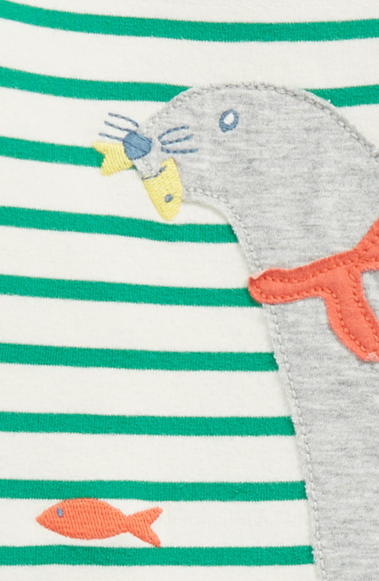 Alternate Image 2  - Mini Boden Animal Appliqué Jersey T-Shirt & Pants Set (Baby Boys & Toddler Boys)