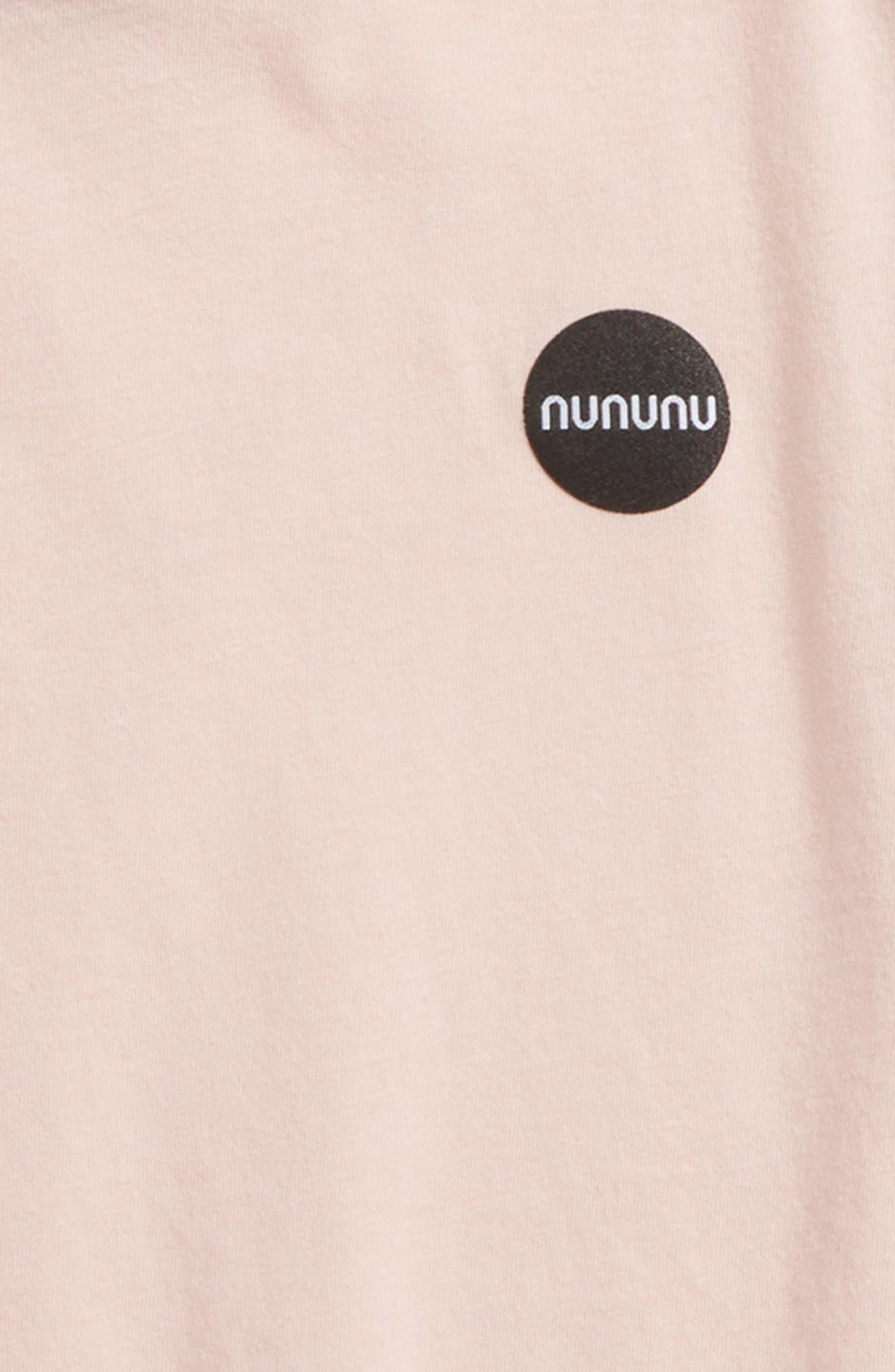 Ninja Hooded T-Shirt,                             Alternate thumbnail 2, color,                             Powder Pink
