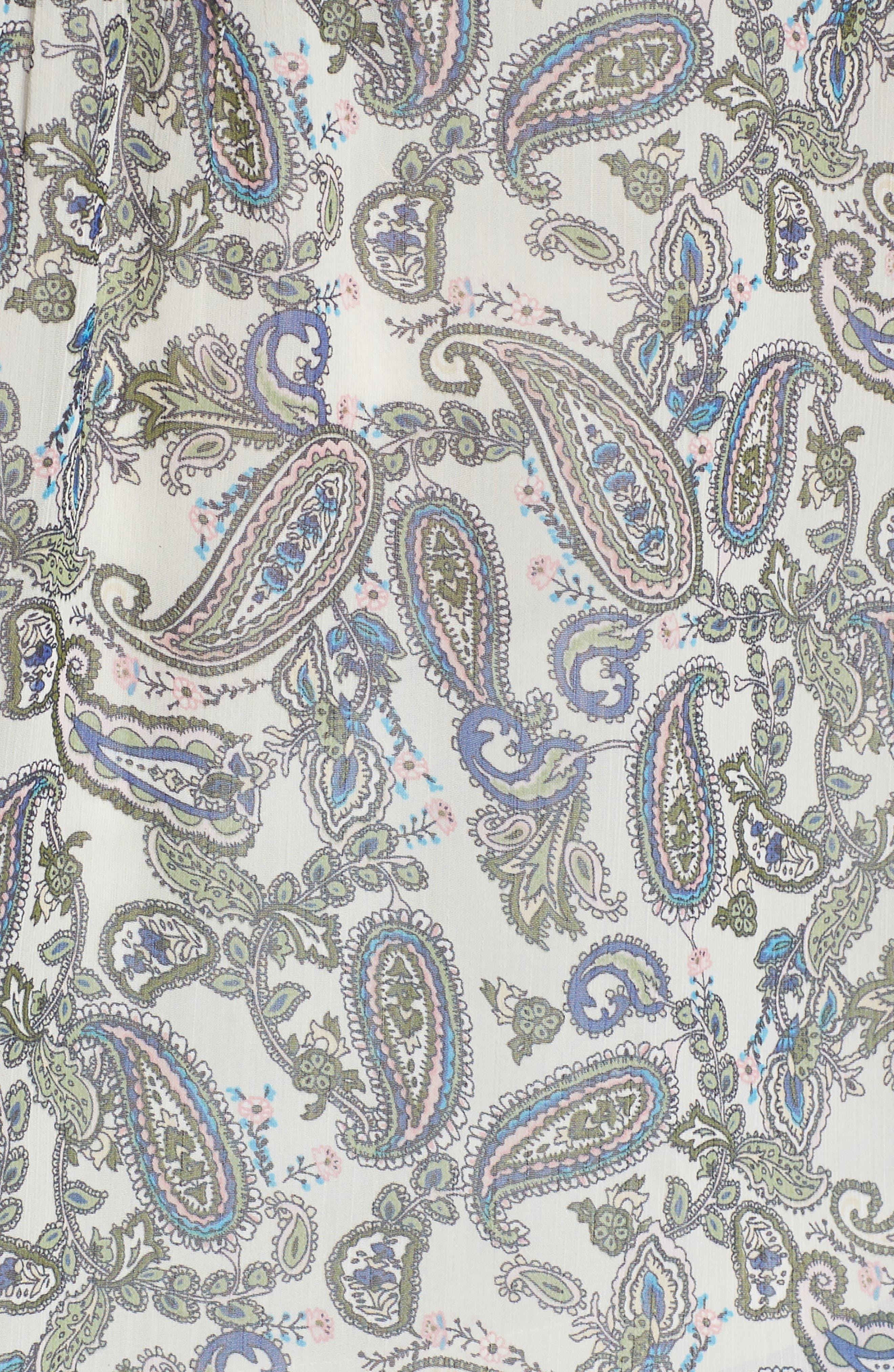 Crochet Trim Print Top,                             Alternate thumbnail 6, color,                             D089n Sage