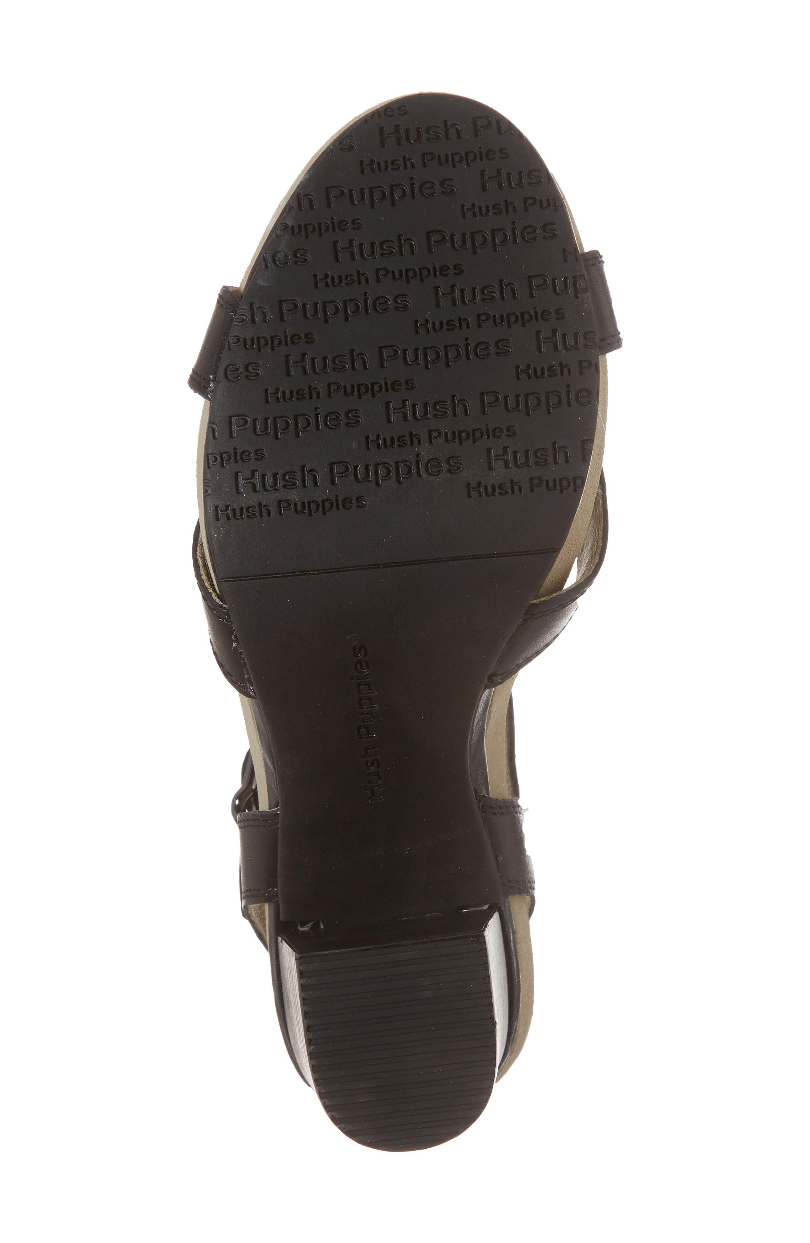 Mariska Block Heel Sandal,                             Alternate thumbnail 6, color,                             Black Leather