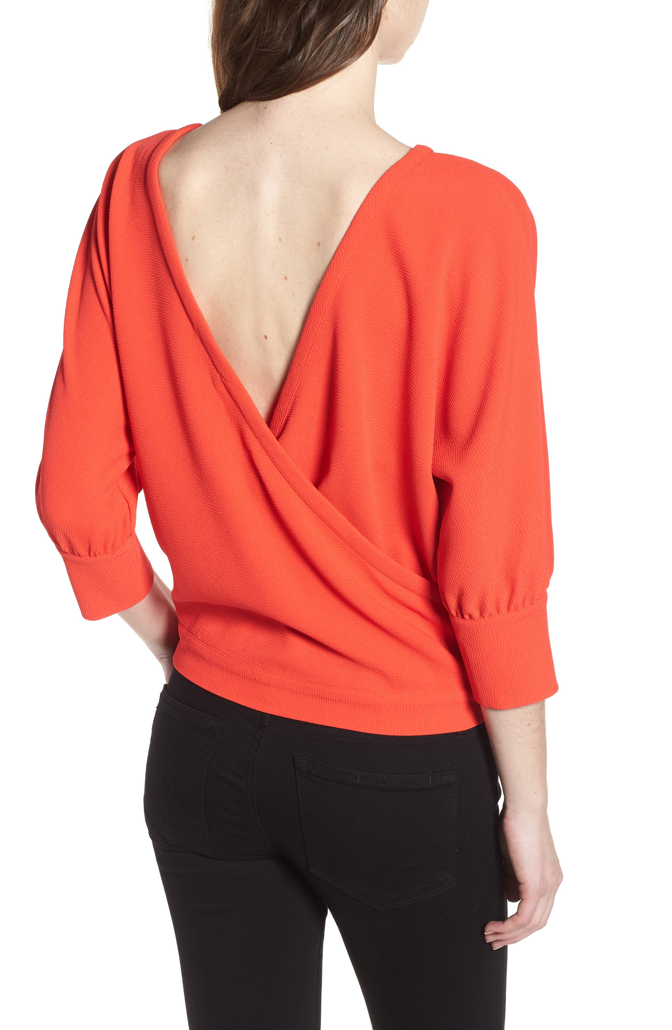Dolman Sleeve Top,                             Alternate thumbnail 2, color,                             Red Poppy