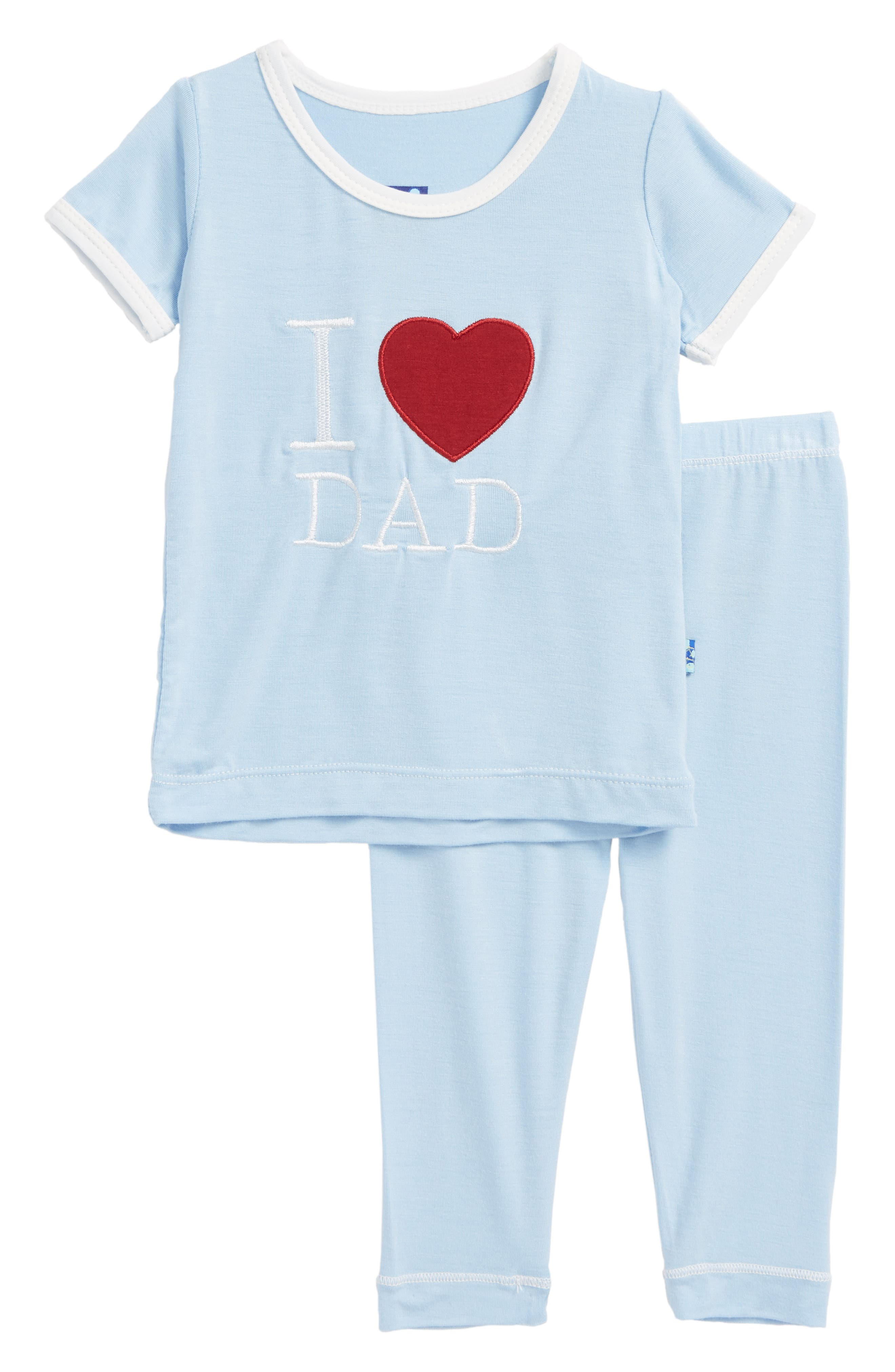 Two-Piece Fitted Pajamas,                         Main,                         color, Pond I Love Dad