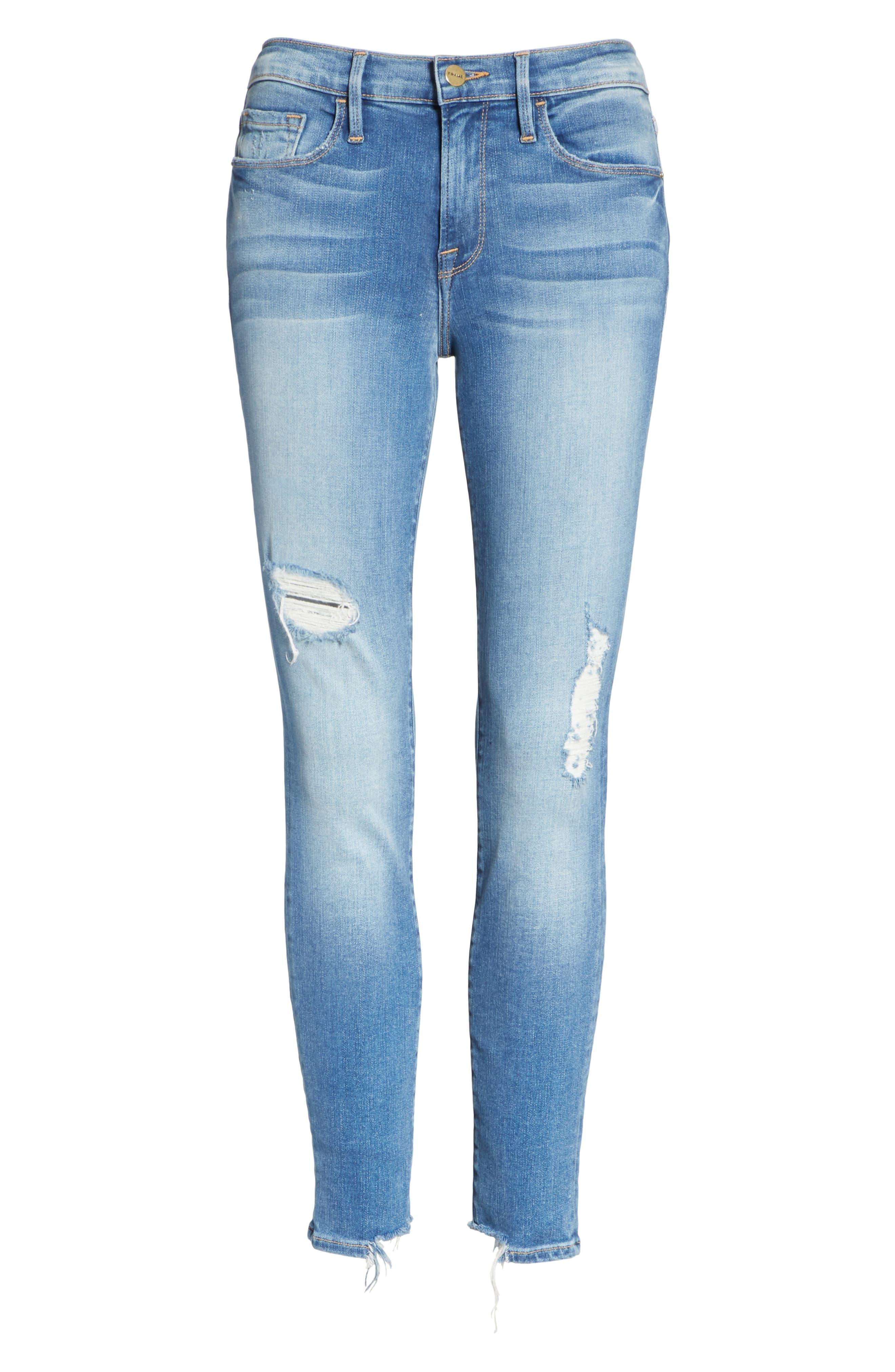 Le Skinny de Jeanne Crop Jeans,                             Alternate thumbnail 6, color,                             Timberland Exclusive