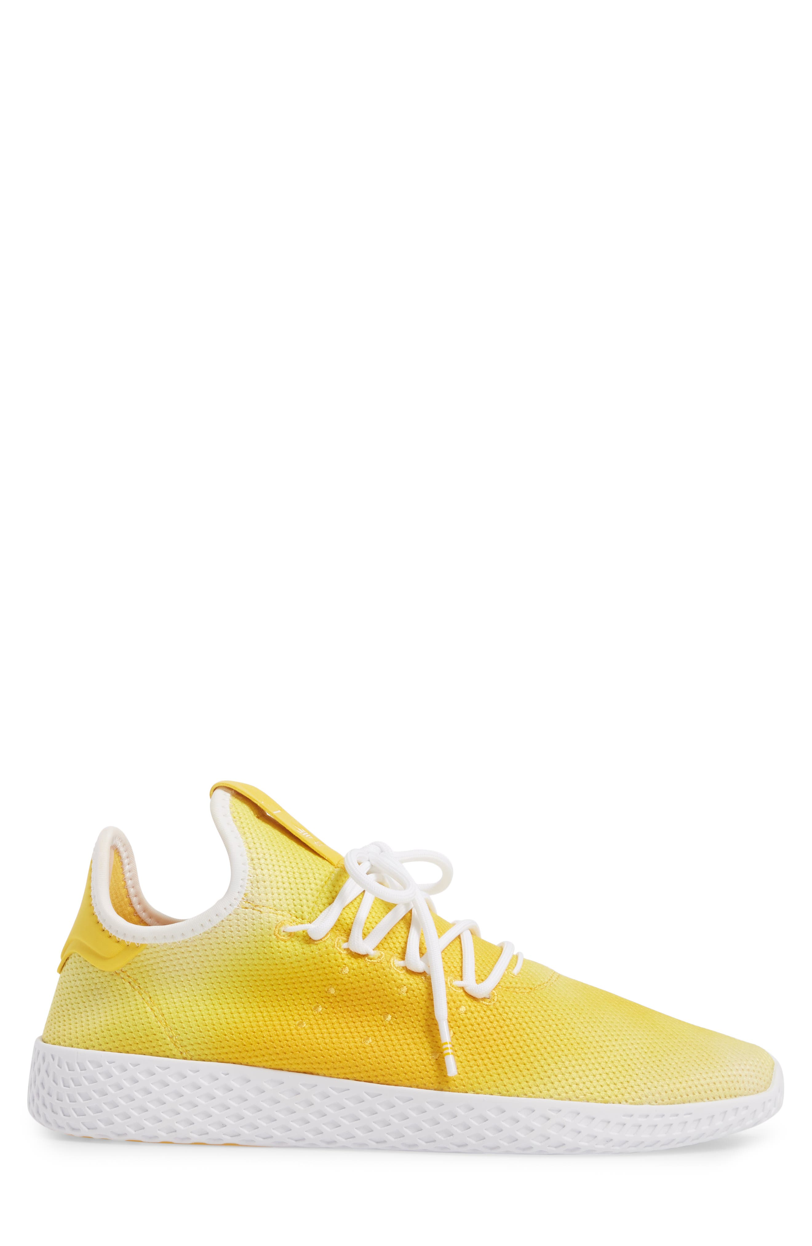 Pharrell Williams Tennis Hu Sneaker,                             Alternate thumbnail 3, color,                             Yellow/ White