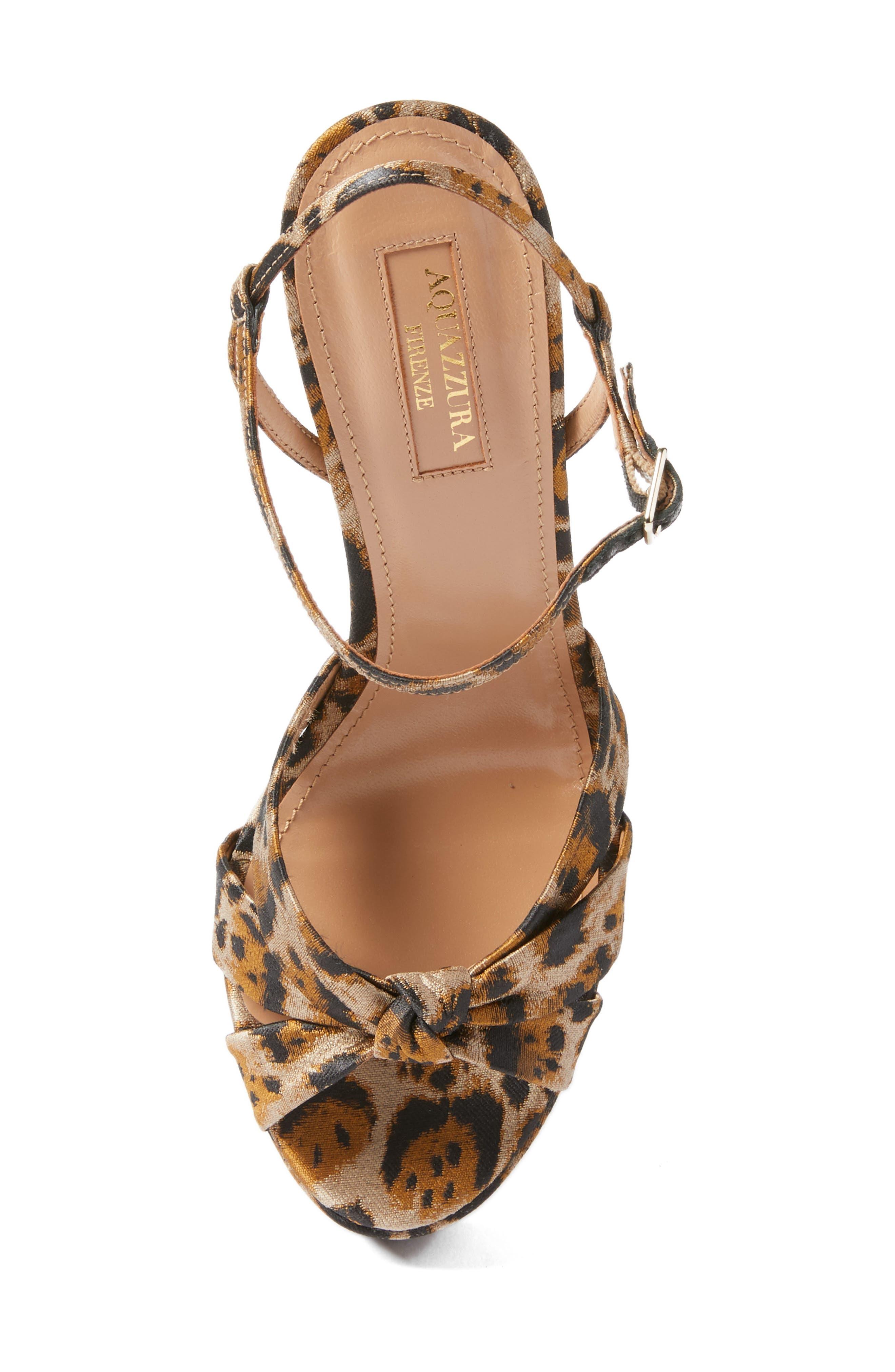 Baba Platform Sandal,                             Alternate thumbnail 5, color,                             Leopard