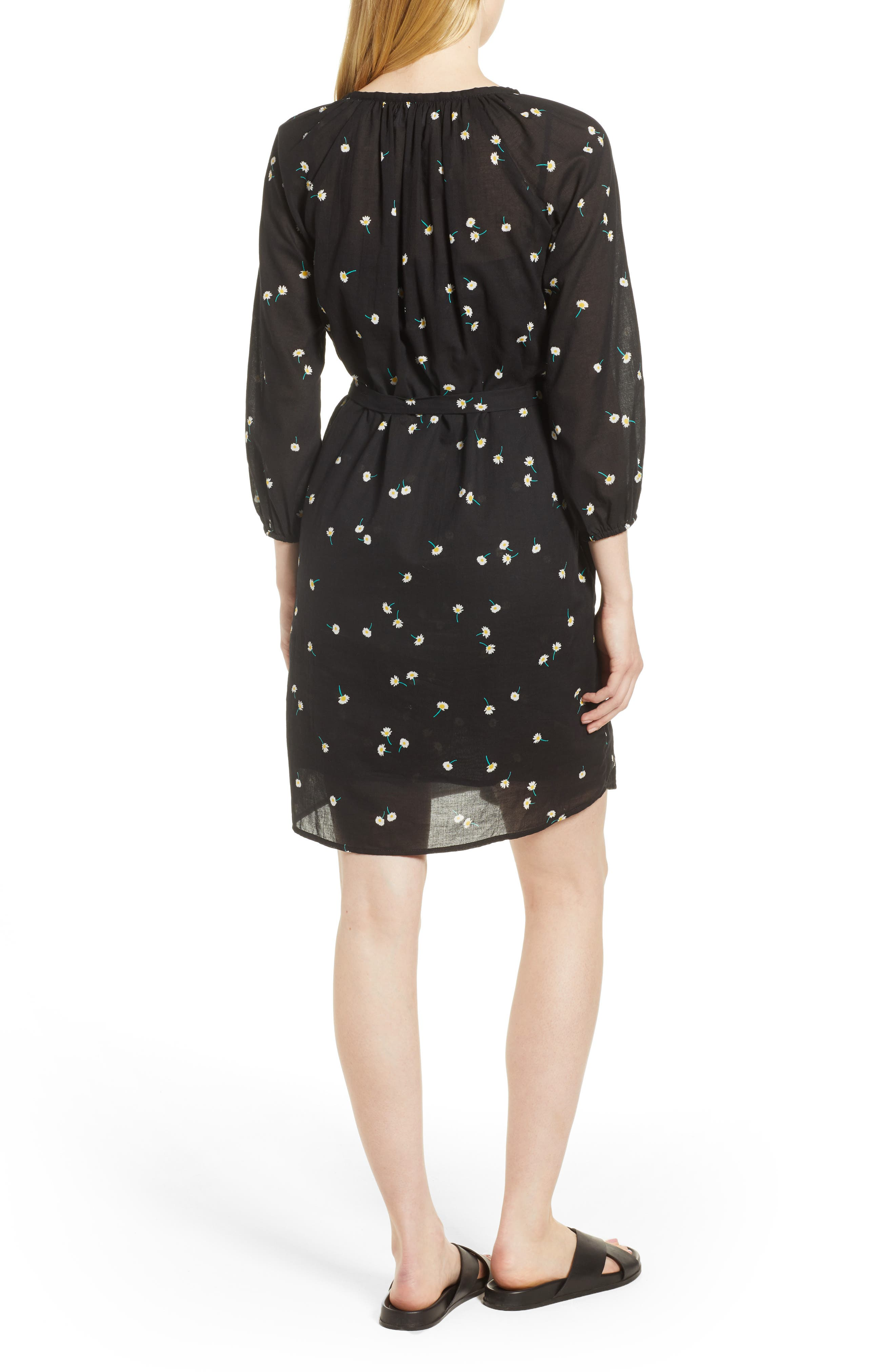 Printed Cotton Gauze Dress,                             Alternate thumbnail 2, color,                             Shasta