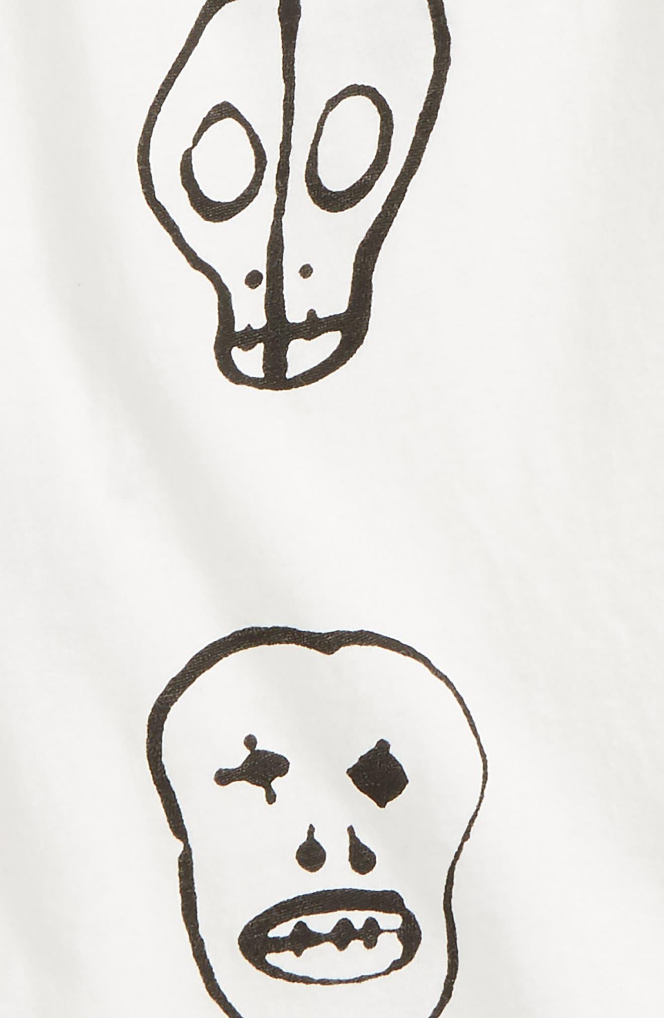 Skull Print Tank,                             Alternate thumbnail 2, color,                             White