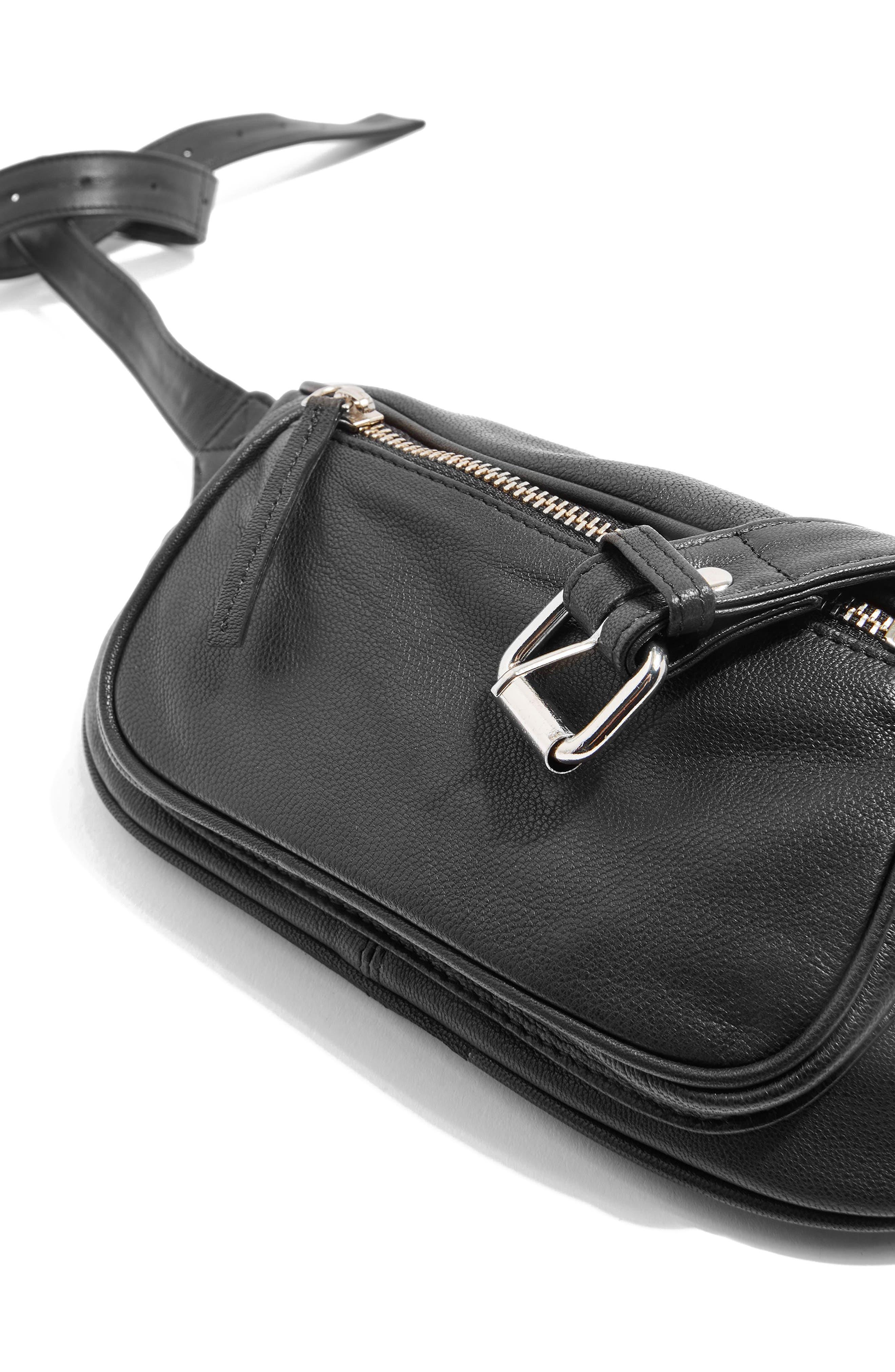 Alternate Image 5  - Topshop Leather Bumbag