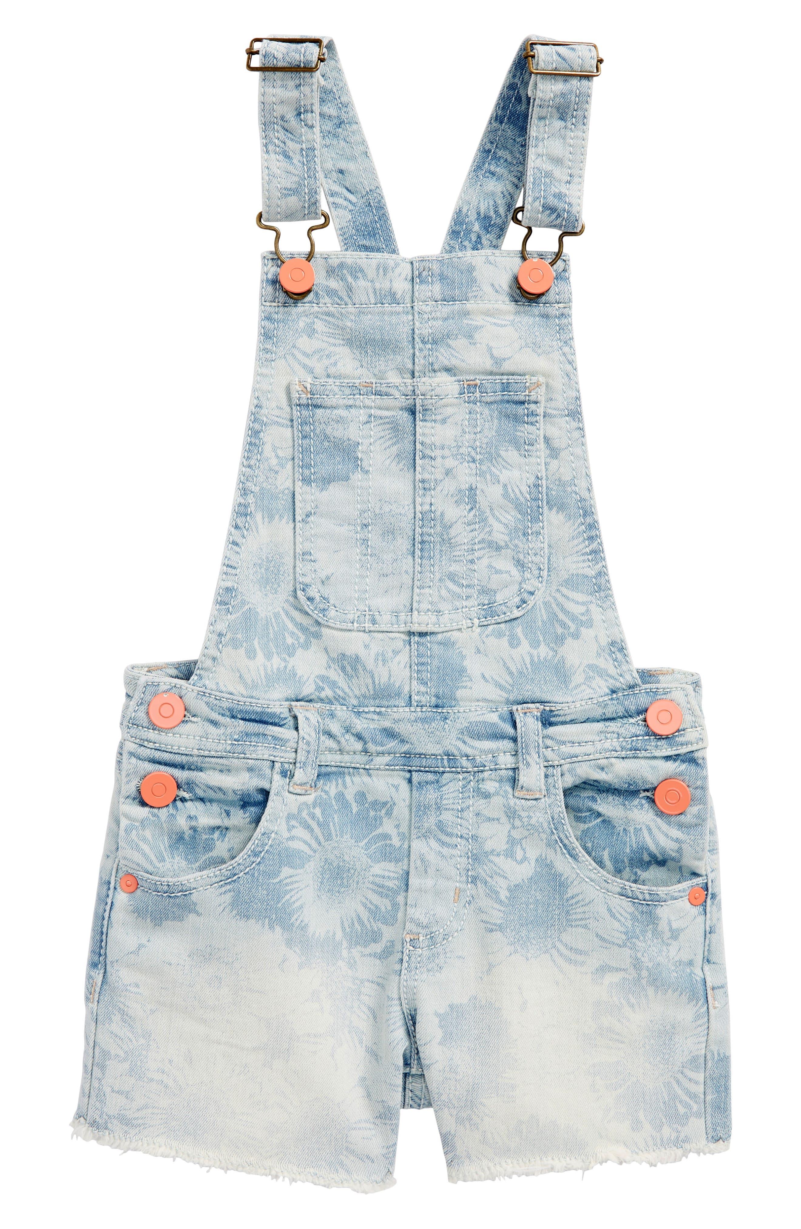 Peek Daisy Cutoff Short Overalls (Toddler Girls, Little Girls & Big Girls)