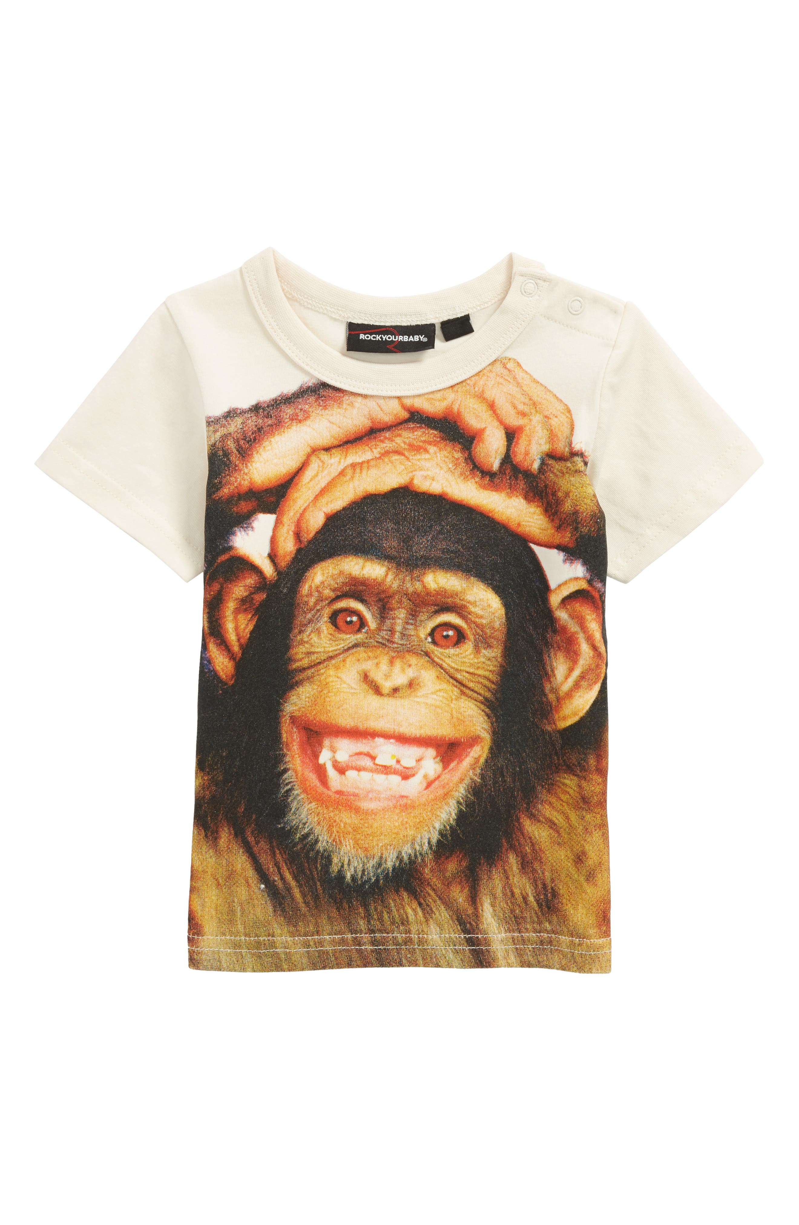 Everyone Smiles Graphic T-Shirt,                             Main thumbnail 1, color,                             Cream