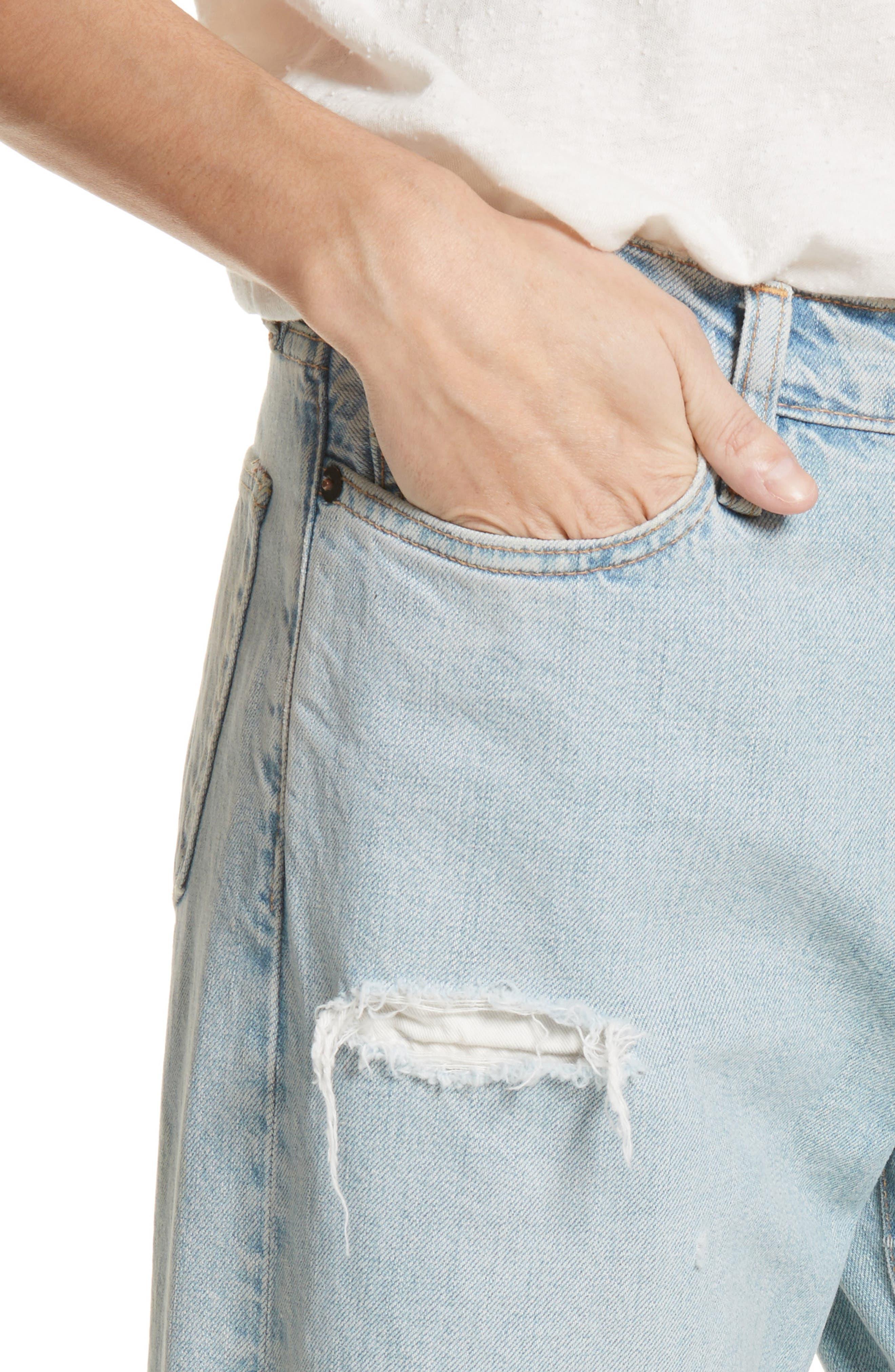 Tibbee Ripped Jeans,                             Alternate thumbnail 5, color,                             Light Indigo