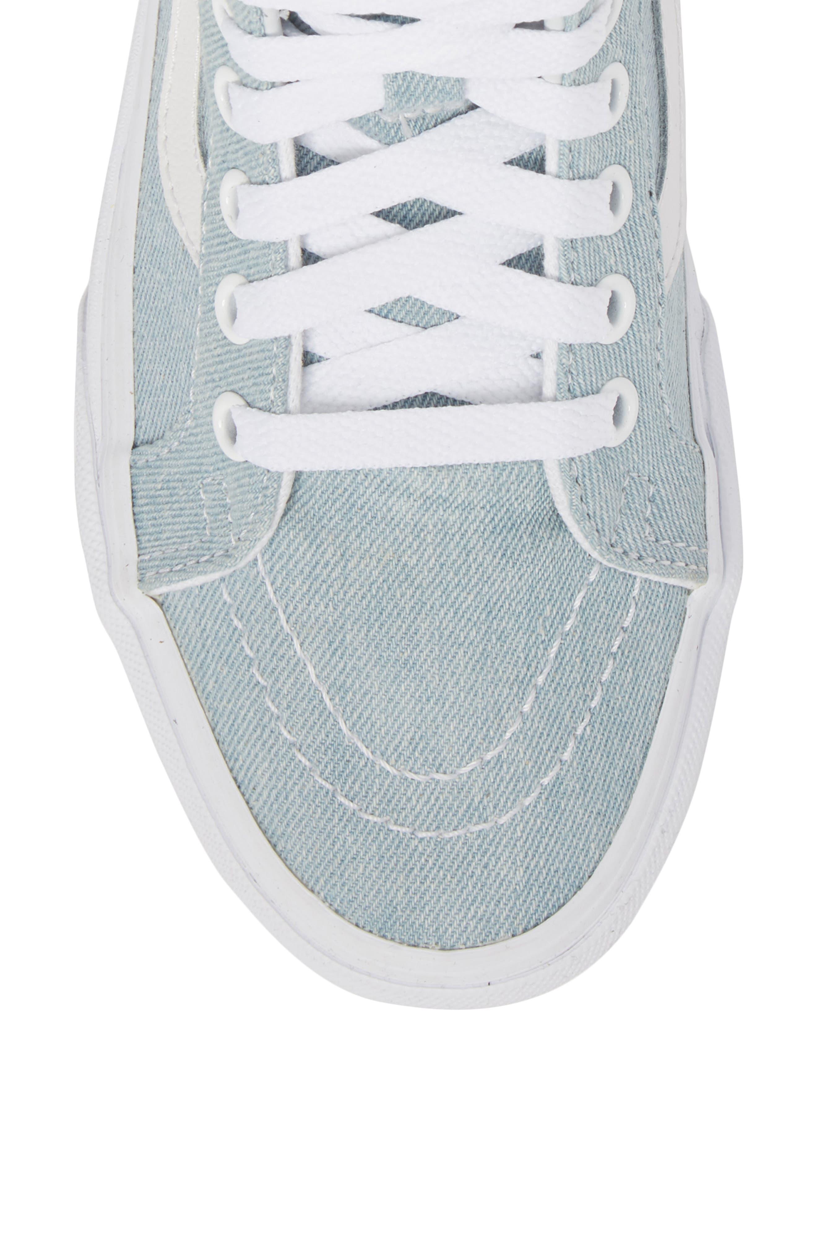 'Sk8-Hi Reissue' Sneaker,                             Alternate thumbnail 3, color,                             Denim Baby Blue