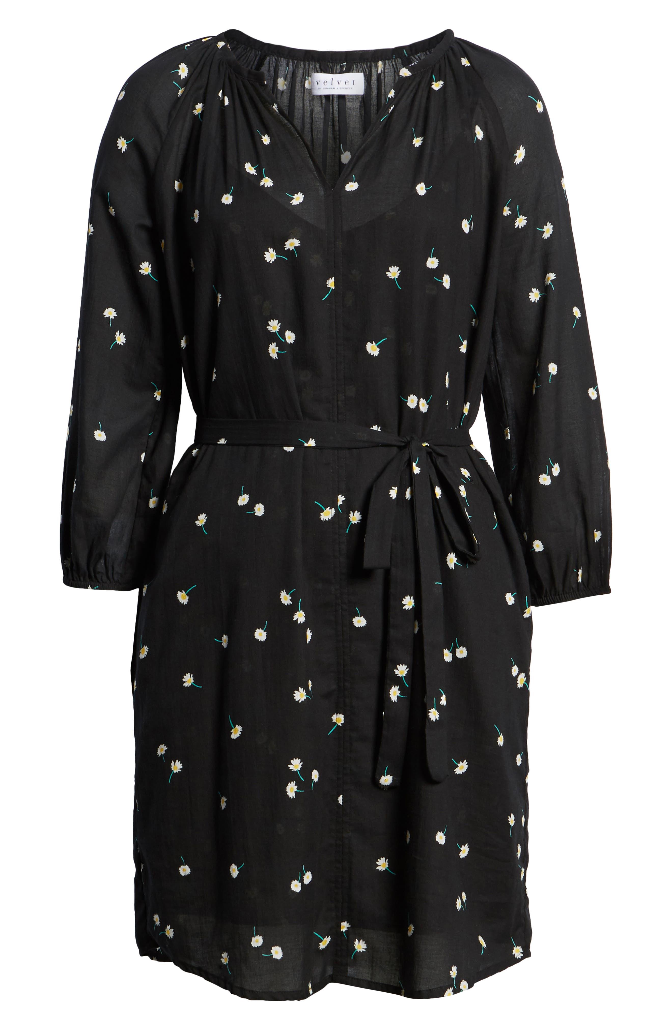 Printed Cotton Gauze Dress,                             Alternate thumbnail 7, color,                             Shasta