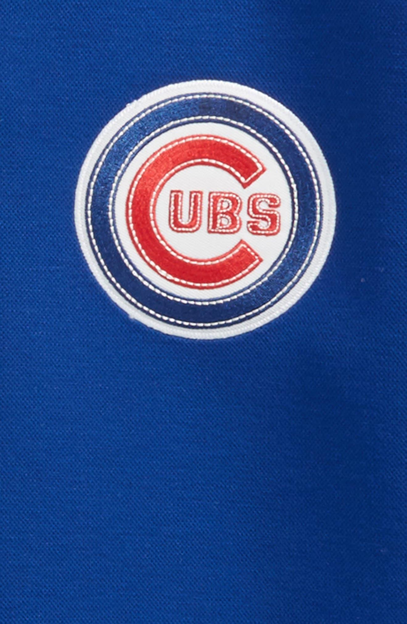 Classical Chicago Cubs Knit Varsity Jacket,                             Alternate thumbnail 2, color,                             Royal