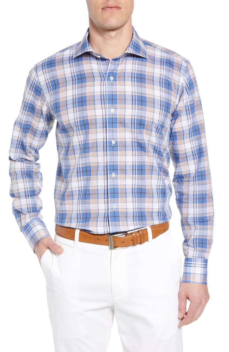 Expedition Chambray Plaid Sport Shirt