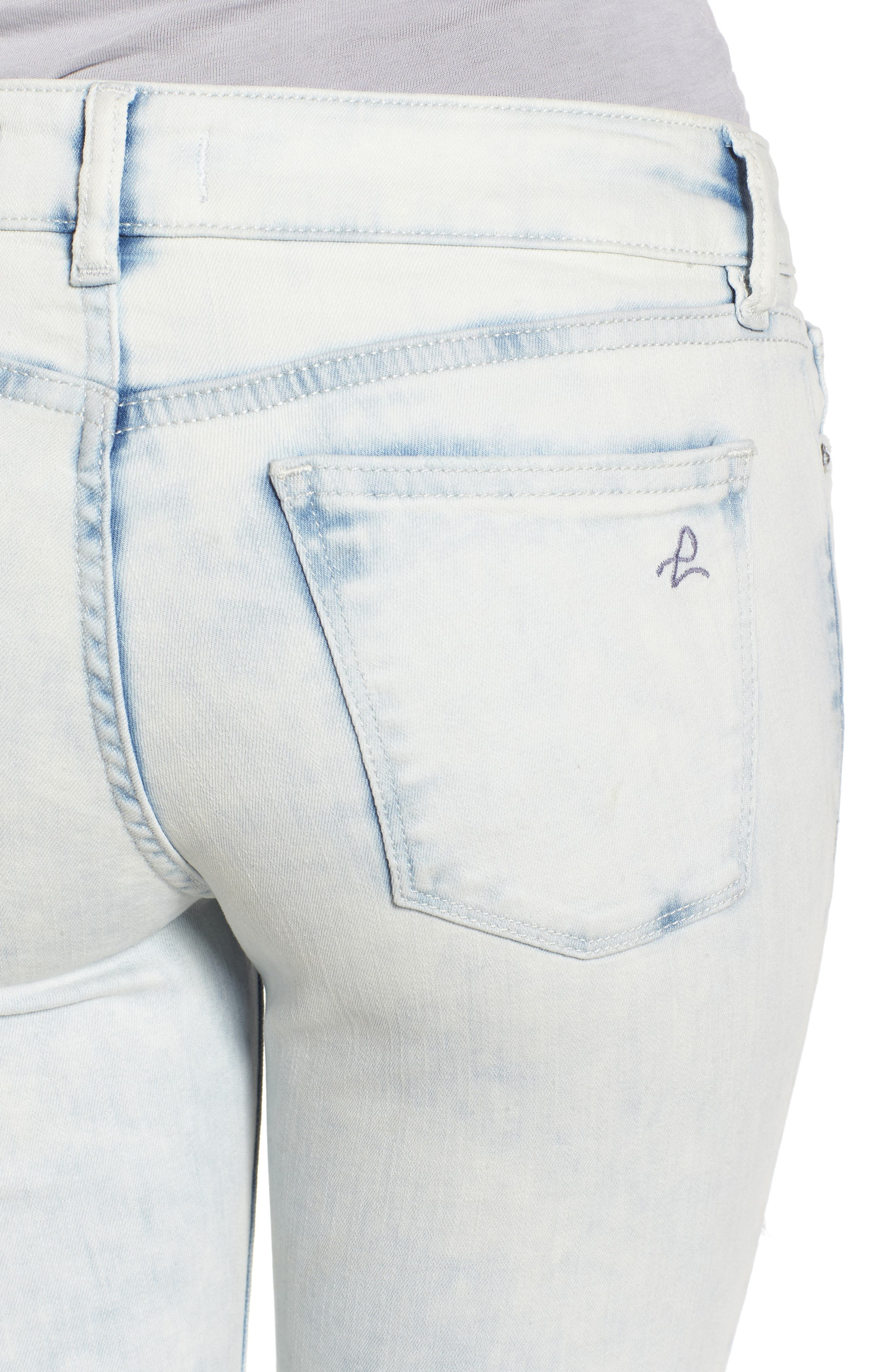 Florence Instasculpt Crop Skinny Jeans,                             Alternate thumbnail 4, color,                             Mitchell