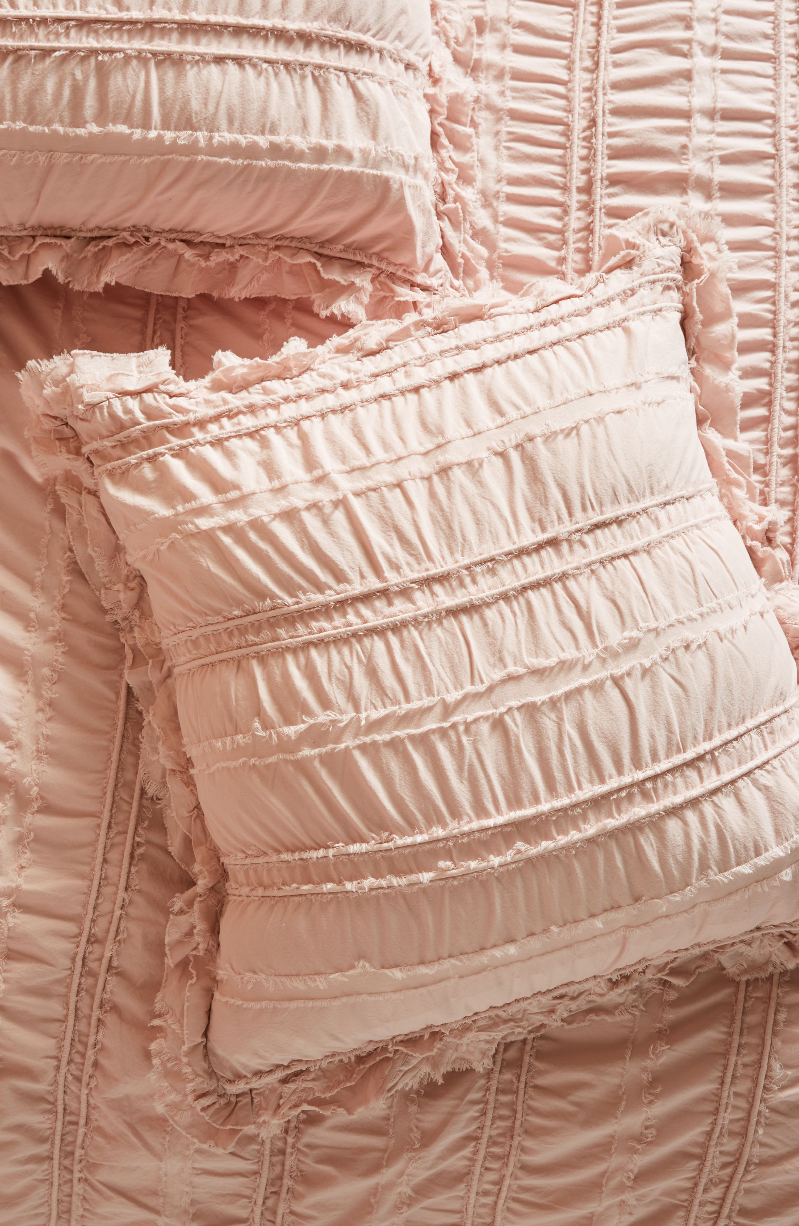 Corded Euro Sham,                             Main thumbnail 1, color,                             Blush Peach