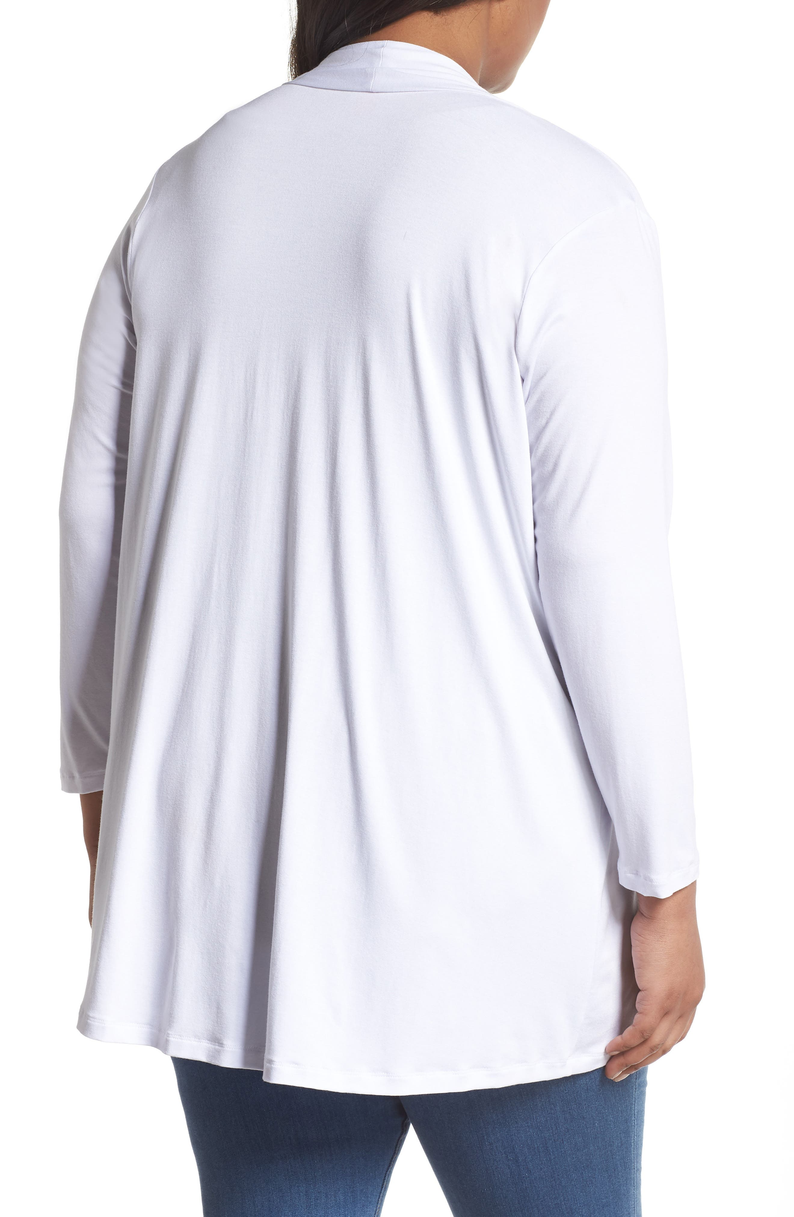 Open Front Cardigan,                             Alternate thumbnail 2, color,                             Ultra White