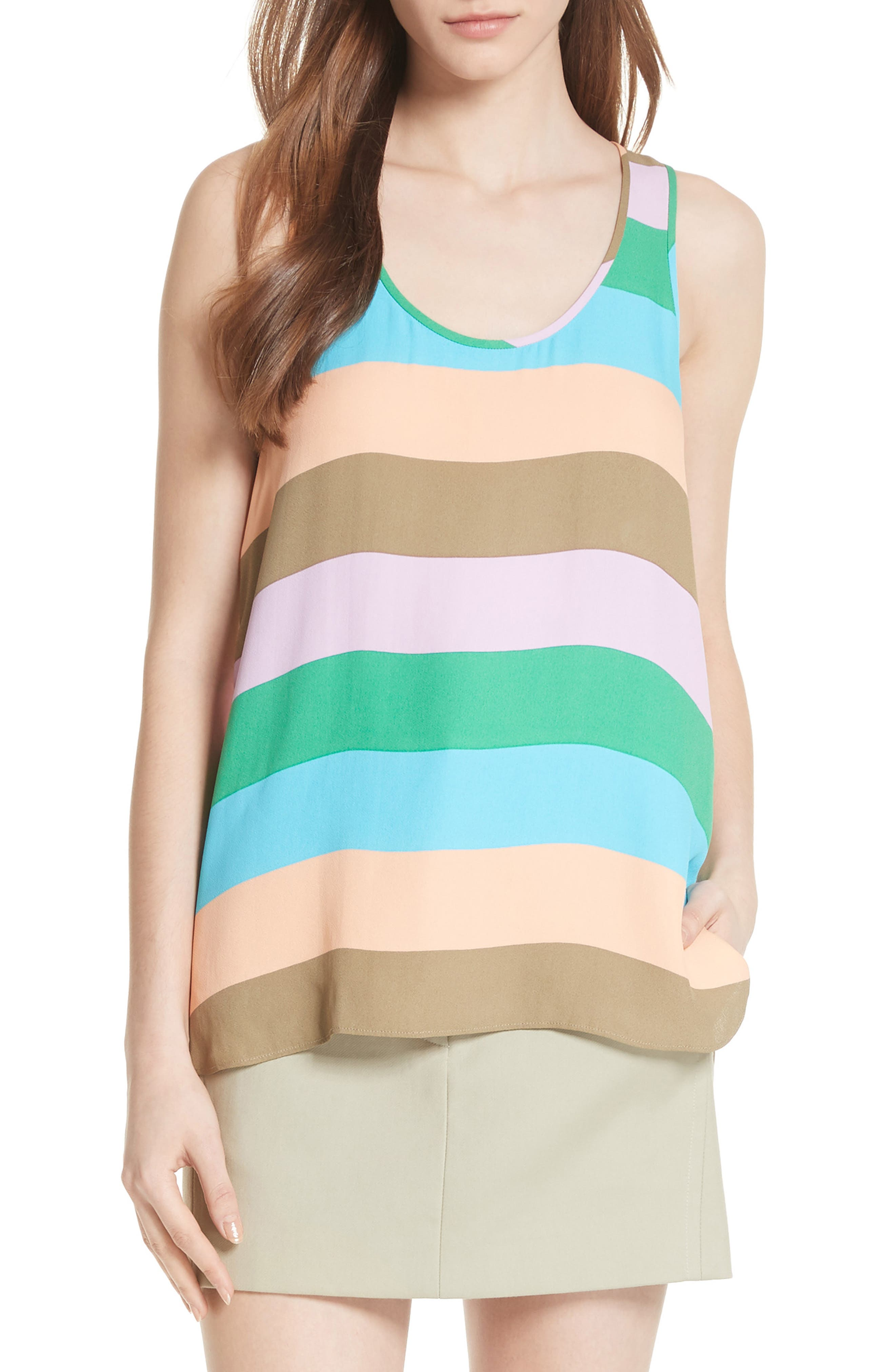 Julian Stripe Tank,                             Main thumbnail 1, color,                             Rugby Multi