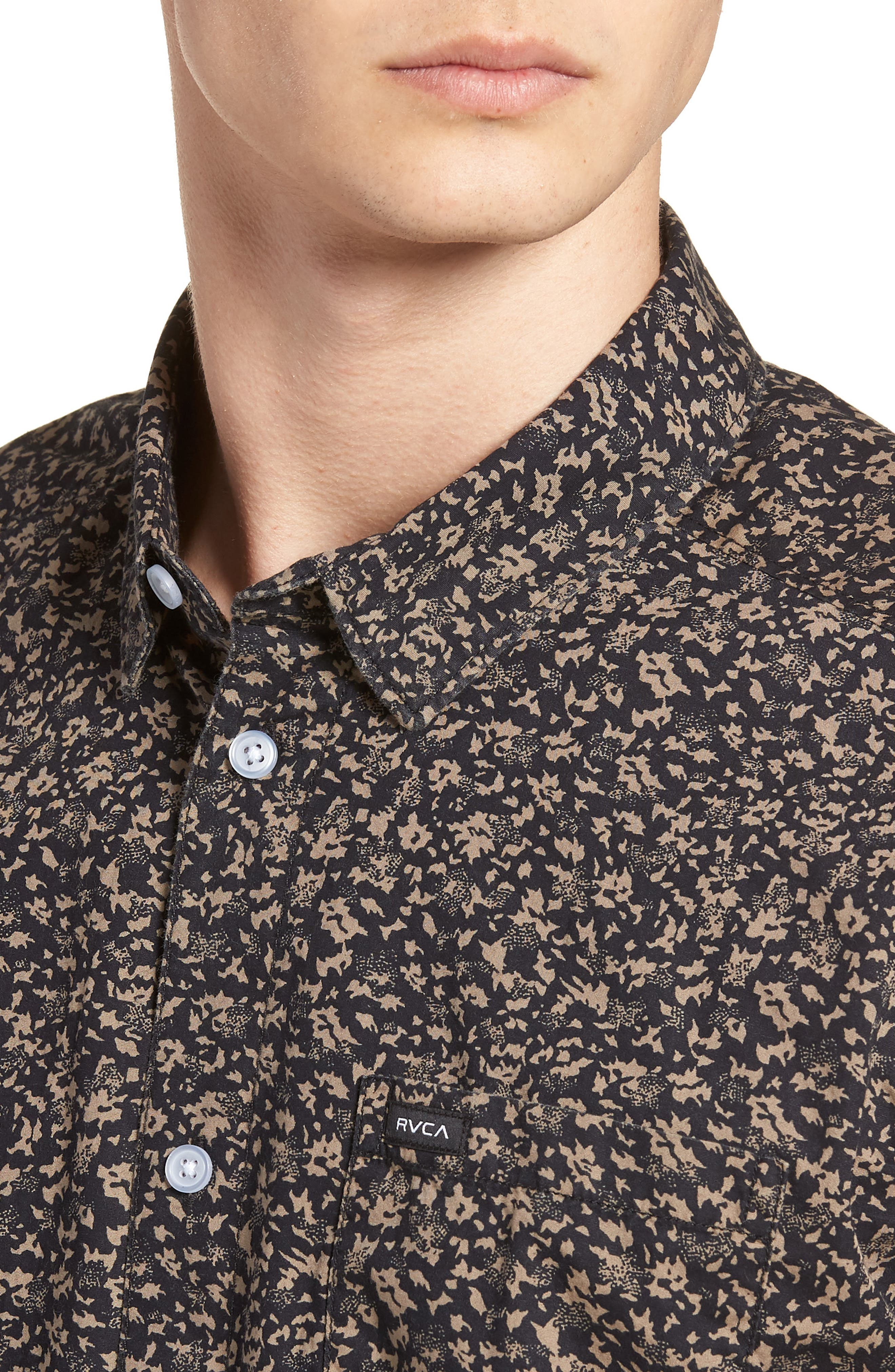 Dresden Woven Shirt,                             Alternate thumbnail 4, color,                             Pirate Black