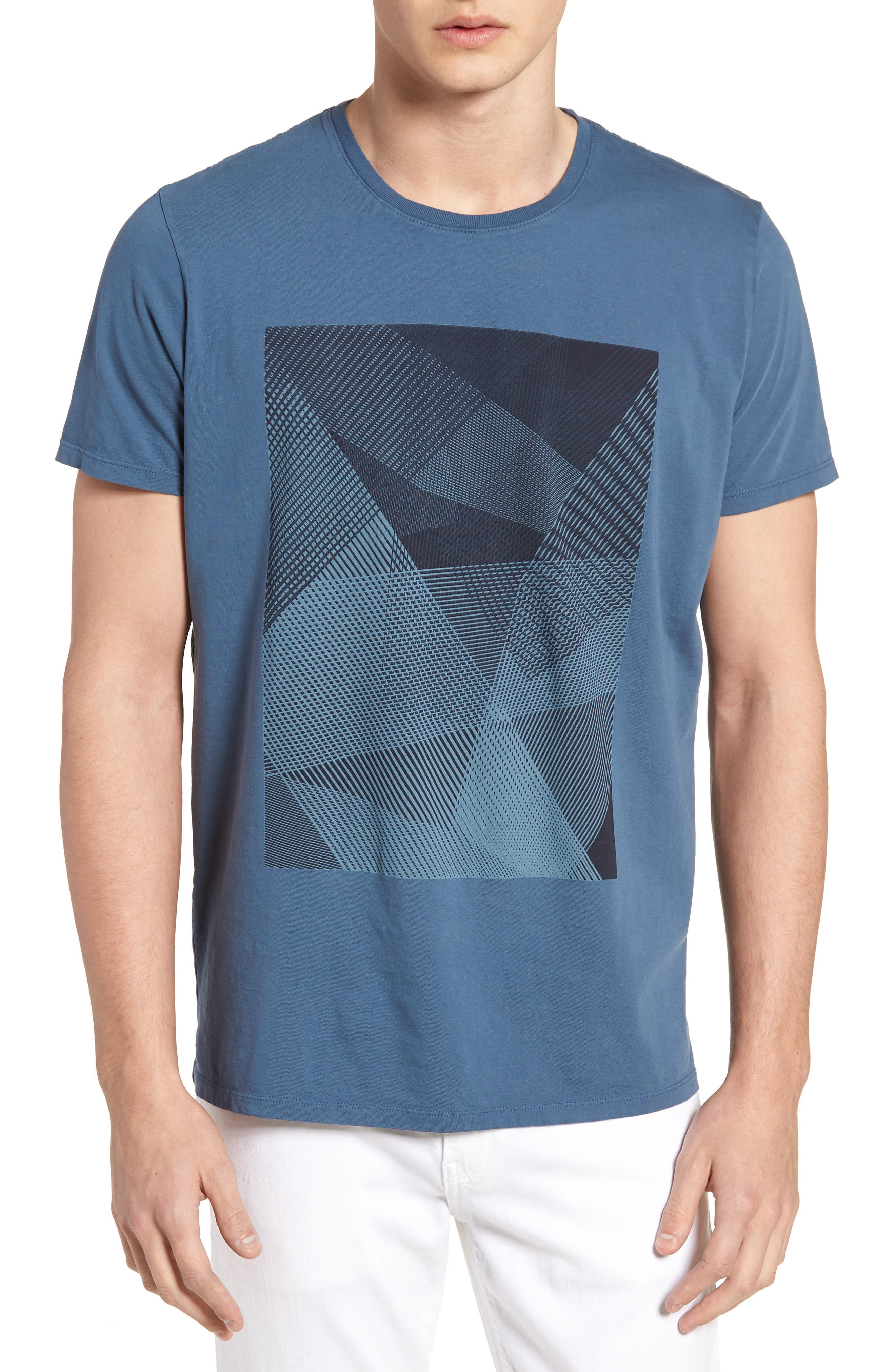 Line Matrix Graphic T-Shirt,                         Main,                         color, Navy