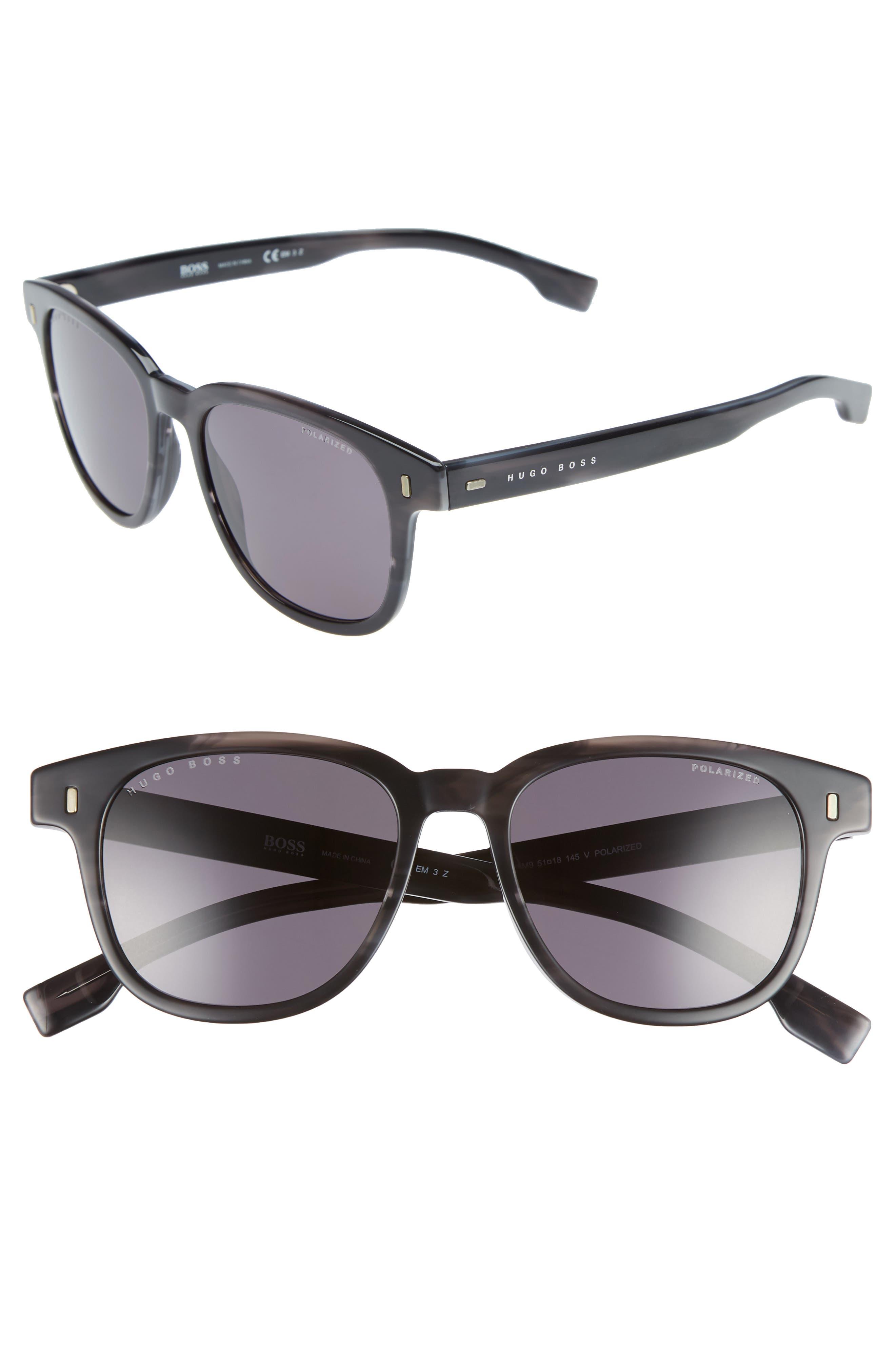 Core 51mm Polarized Sunglasses,                             Main thumbnail 1, color,                             Grey Horn/ Polar
