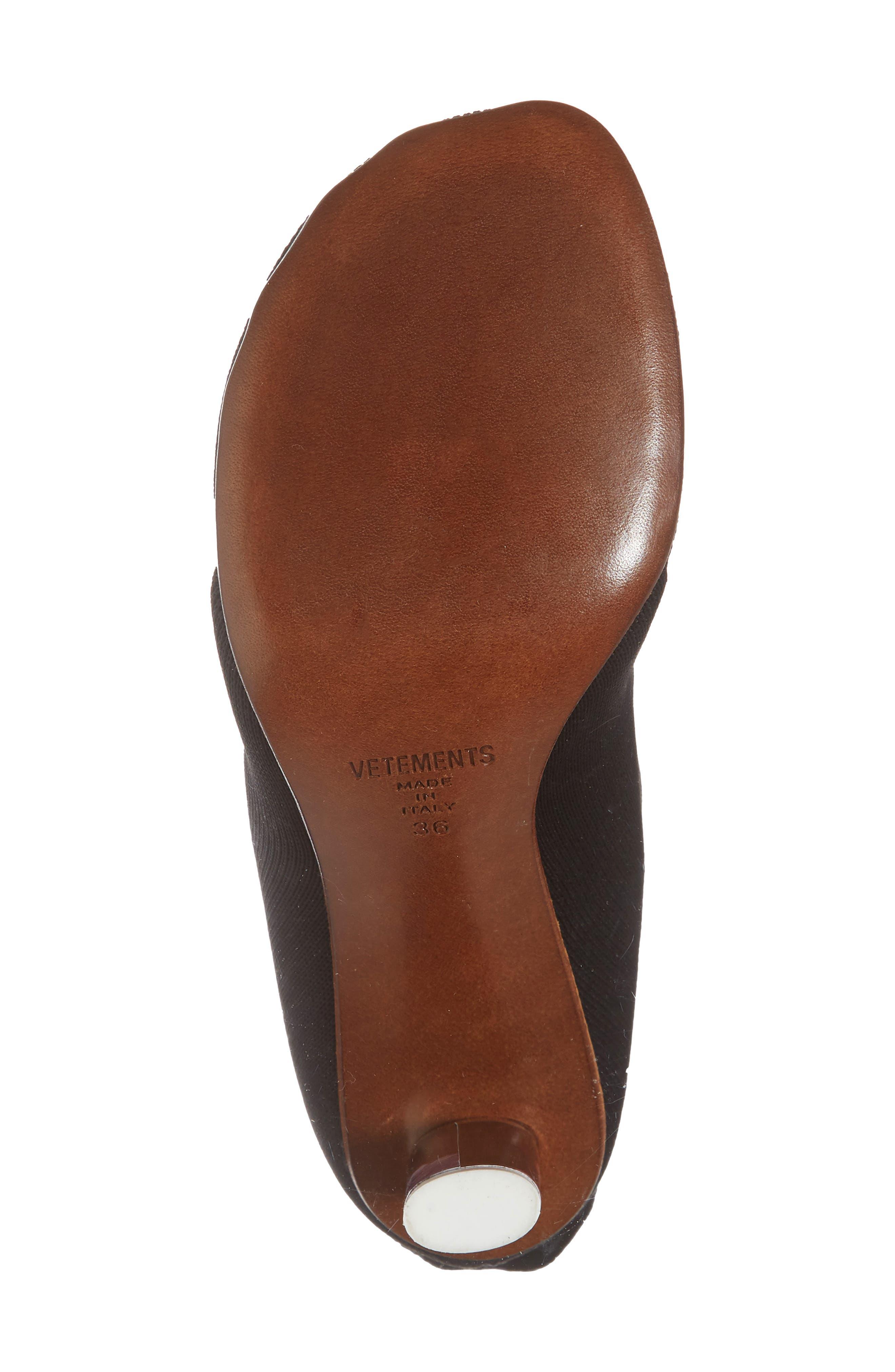 Lighter Sock Boot,                             Alternate thumbnail 6, color,                             Black/Printed Heel