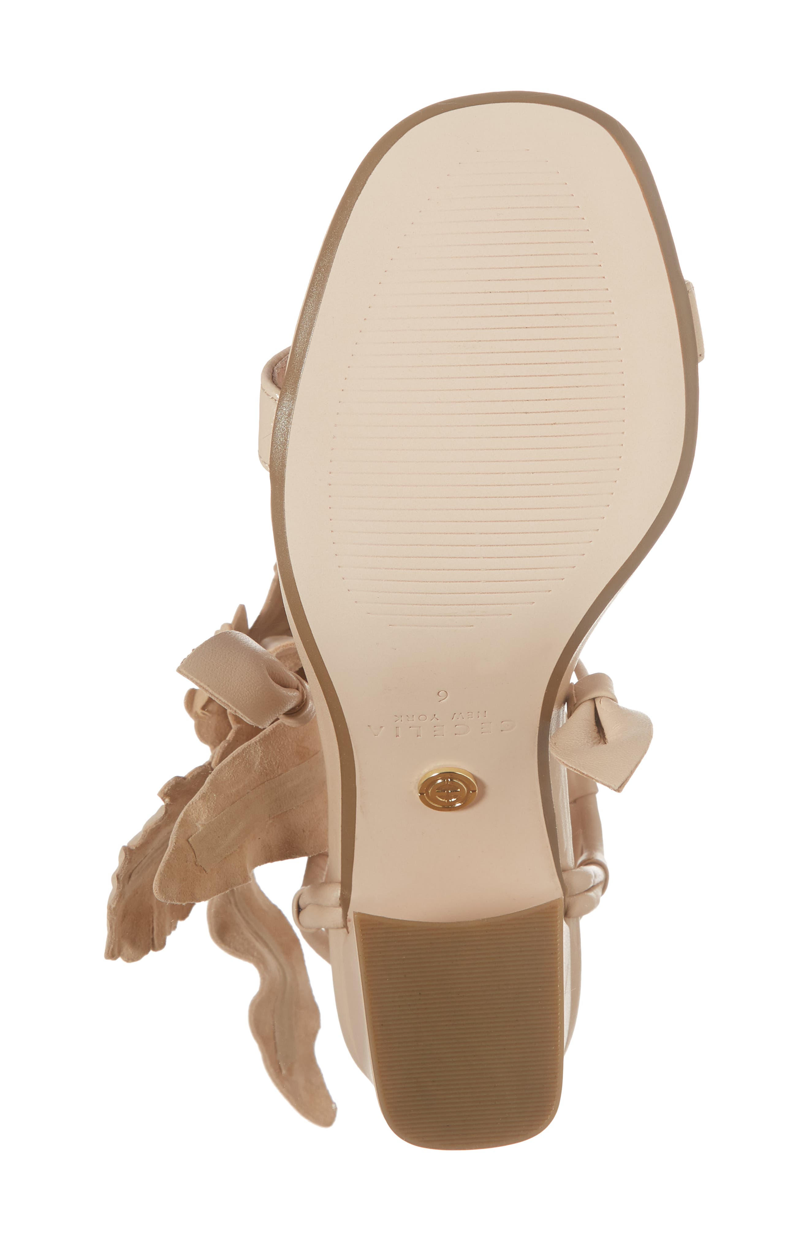 Hibiscus Sandal,                             Alternate thumbnail 6, color,                             Nude Leather
